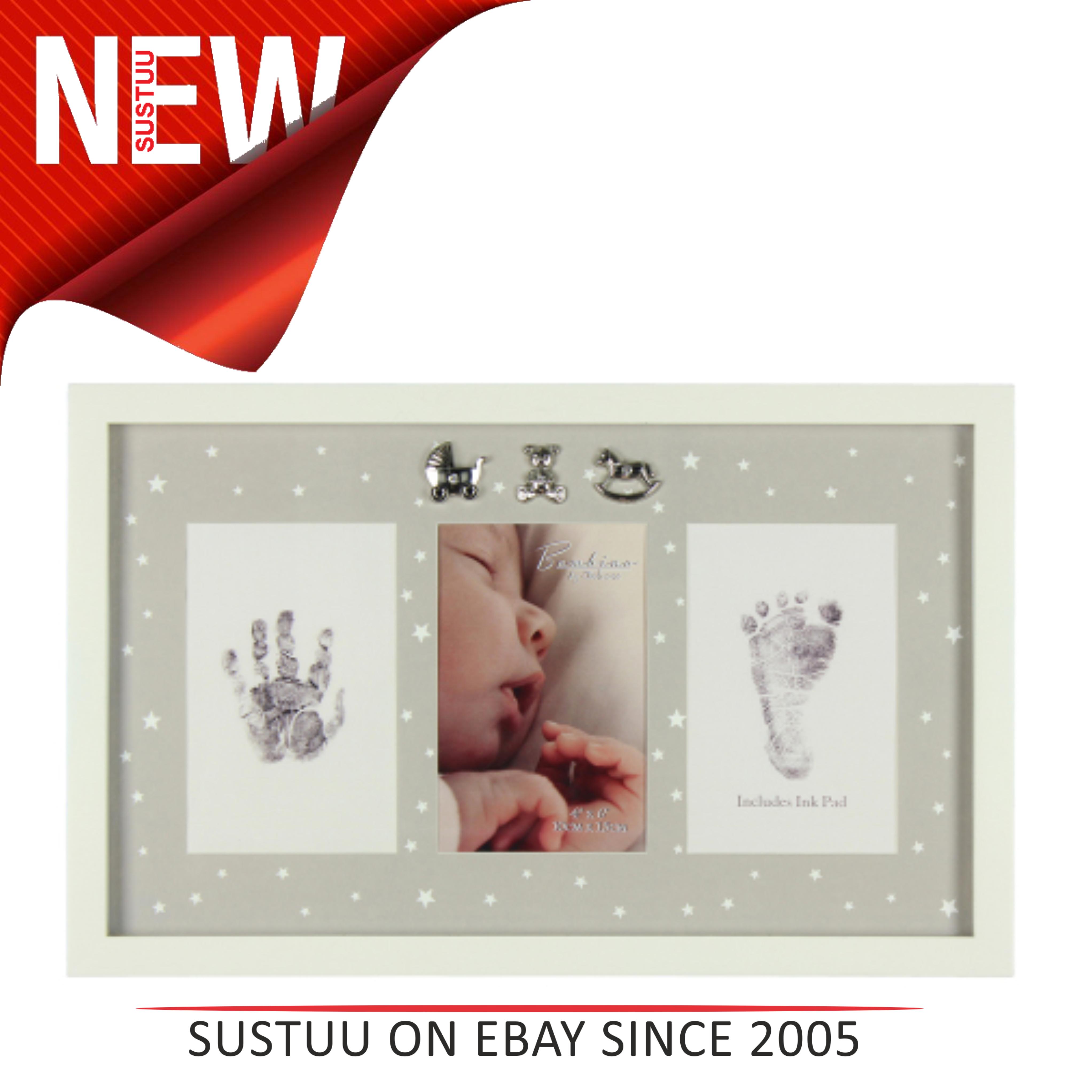 Bambino Foto, Baby\'s Winzig Hand & Fußabdruck Rahmen│Geschenk für ...
