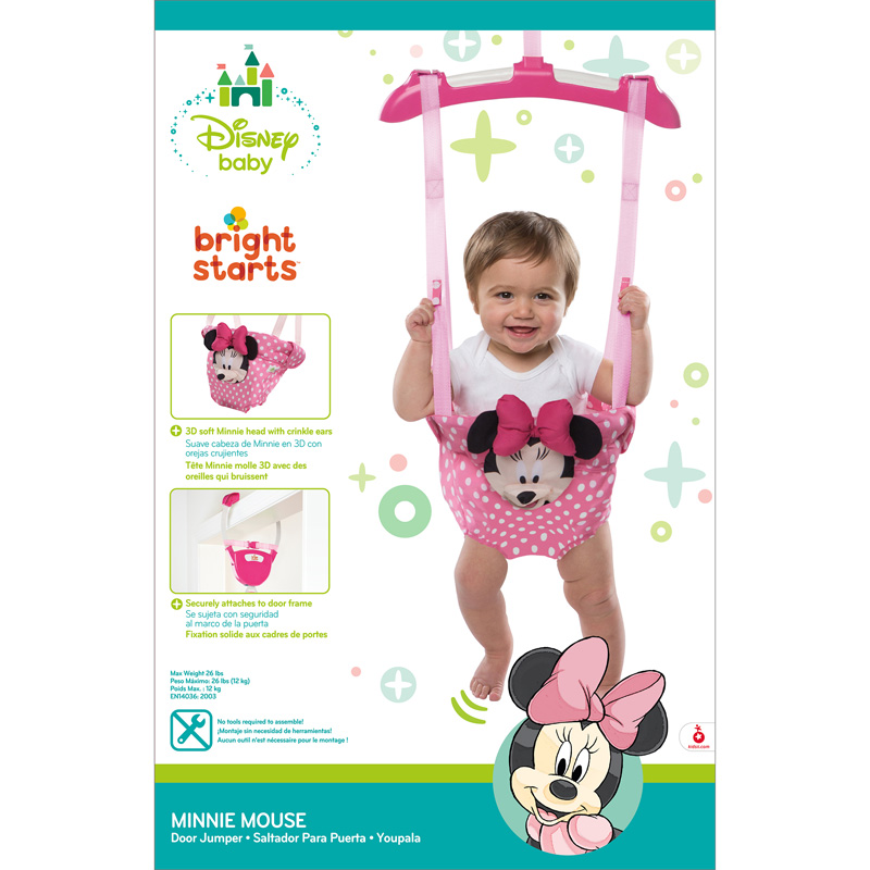 f9fec56bbff7 Bright Starts Disney Baby Minnie Mouse Door Jumper Bouncer│Padded ...