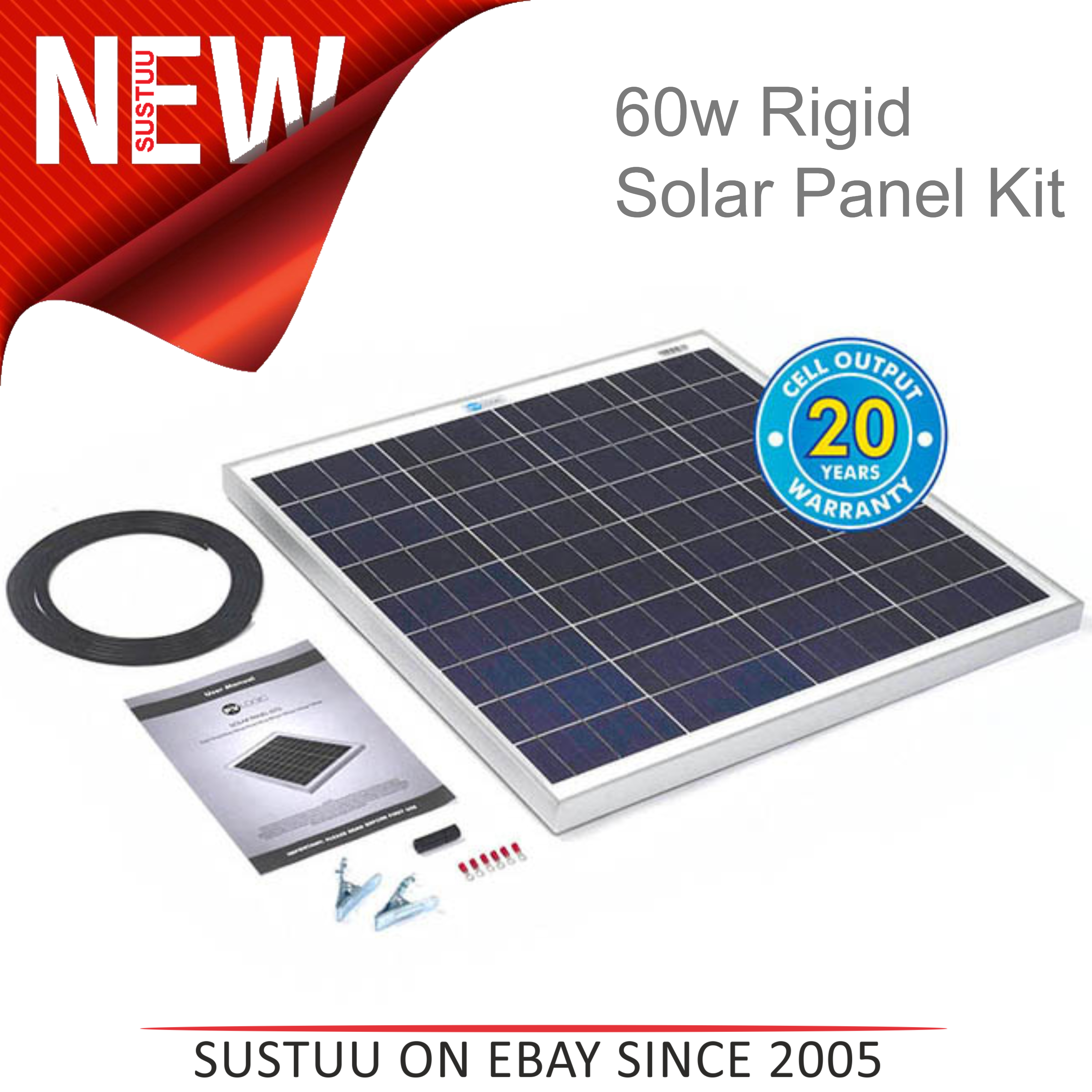 Solar Technology Pv Logic 60w Rigid Solar Panel Kit
