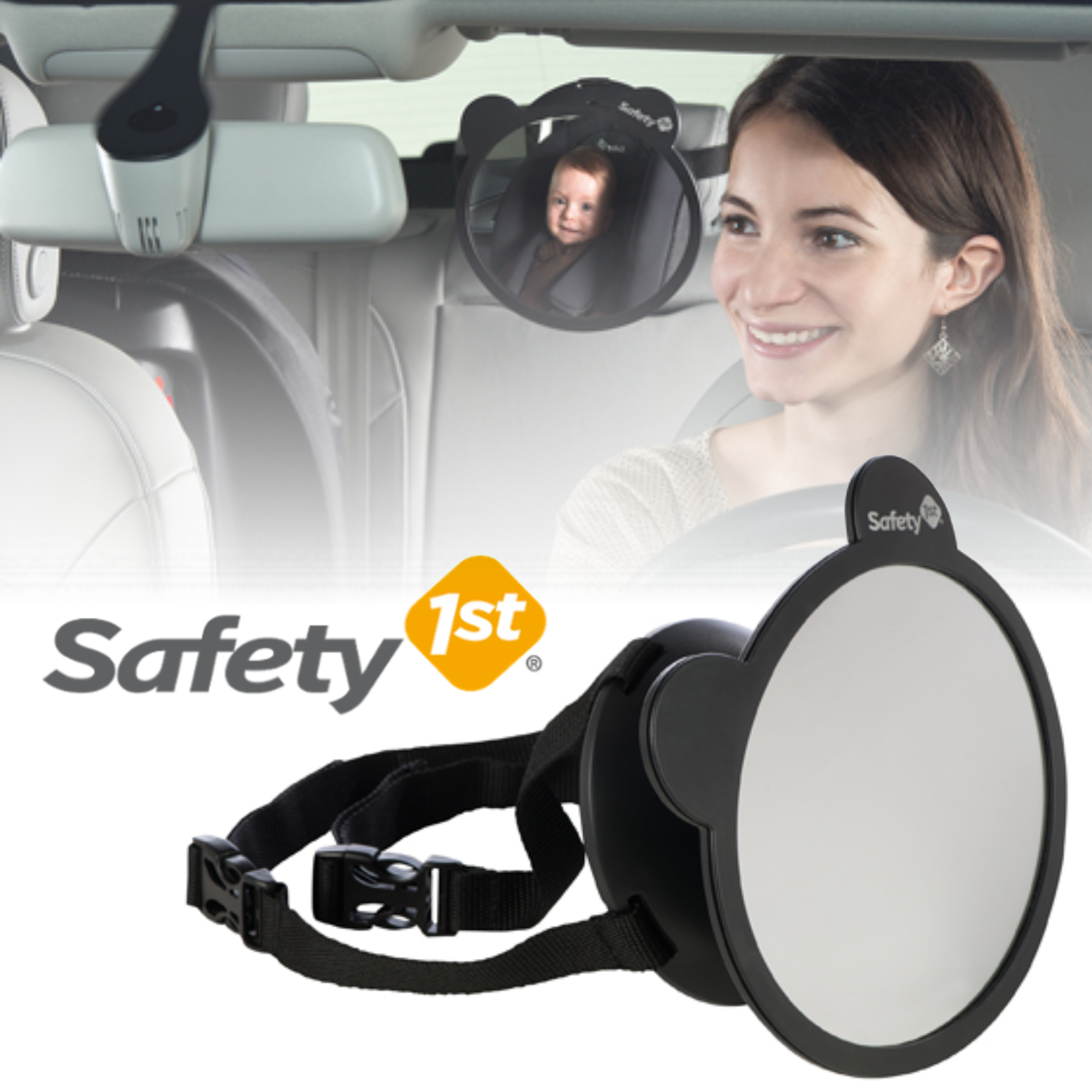 Sentinel Safety 1st Back Seat Baby Car Mirror Rear Swiel Visor Kid Adjustable