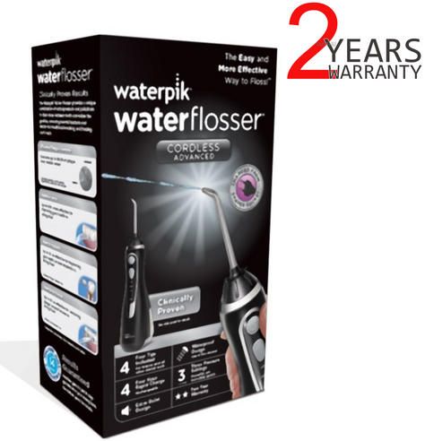 Waterpik Cordless Advanced Water Flosser | 360°Tip Rotation | Waterproof | Black WP562 Thumbnail 1
