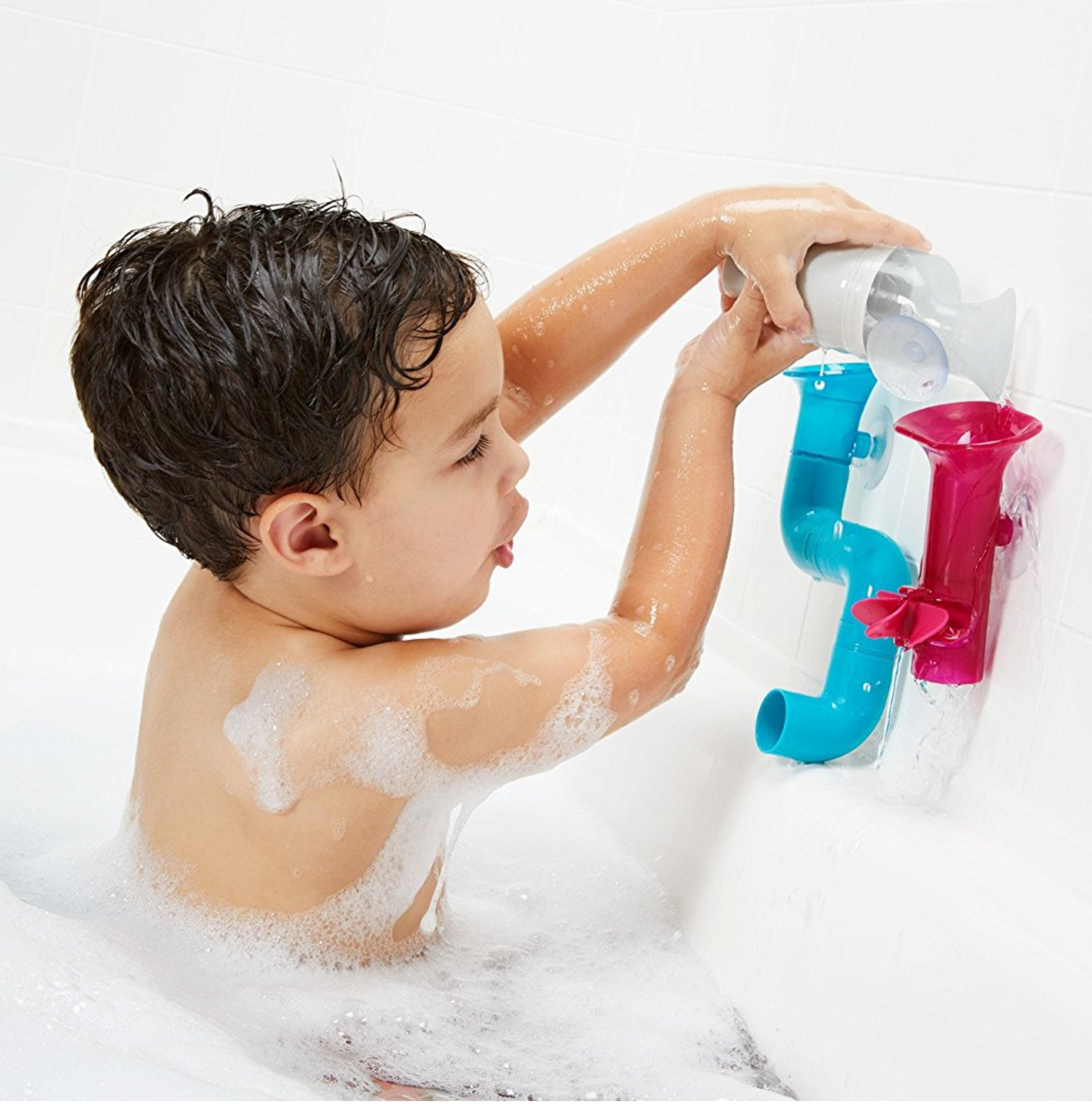 BOON TUBES Water Pipe Bath Toy│Kid\'s Funny Bath Activity Kit│BPA ...