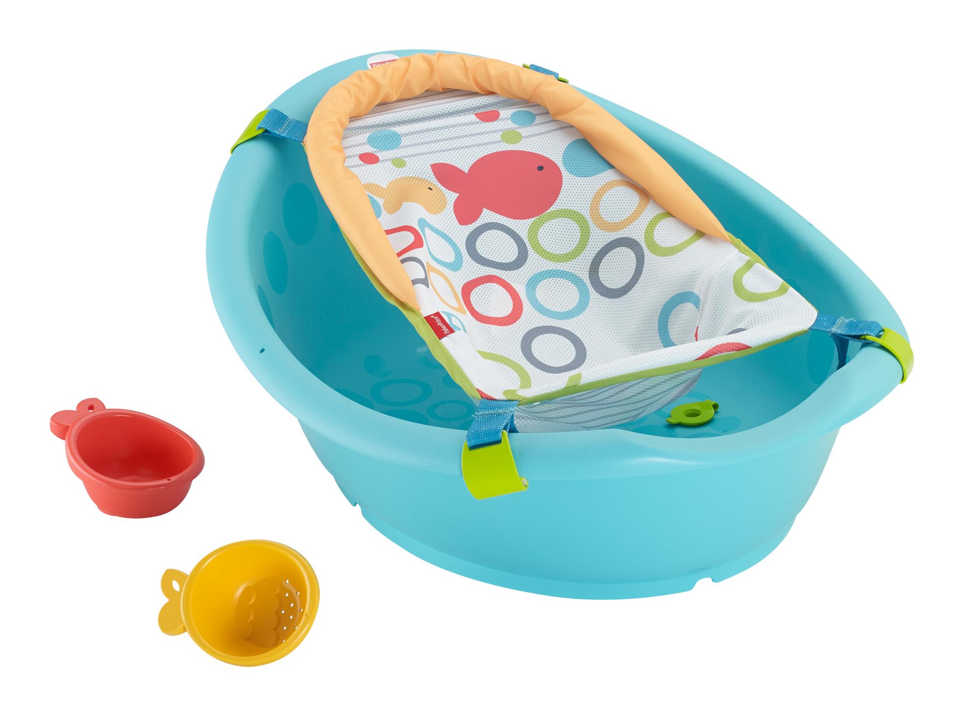 Fisher-Price Rinse \'N Grow Baby/Toddler Bath Tub│X2 Goldfish Bath ...