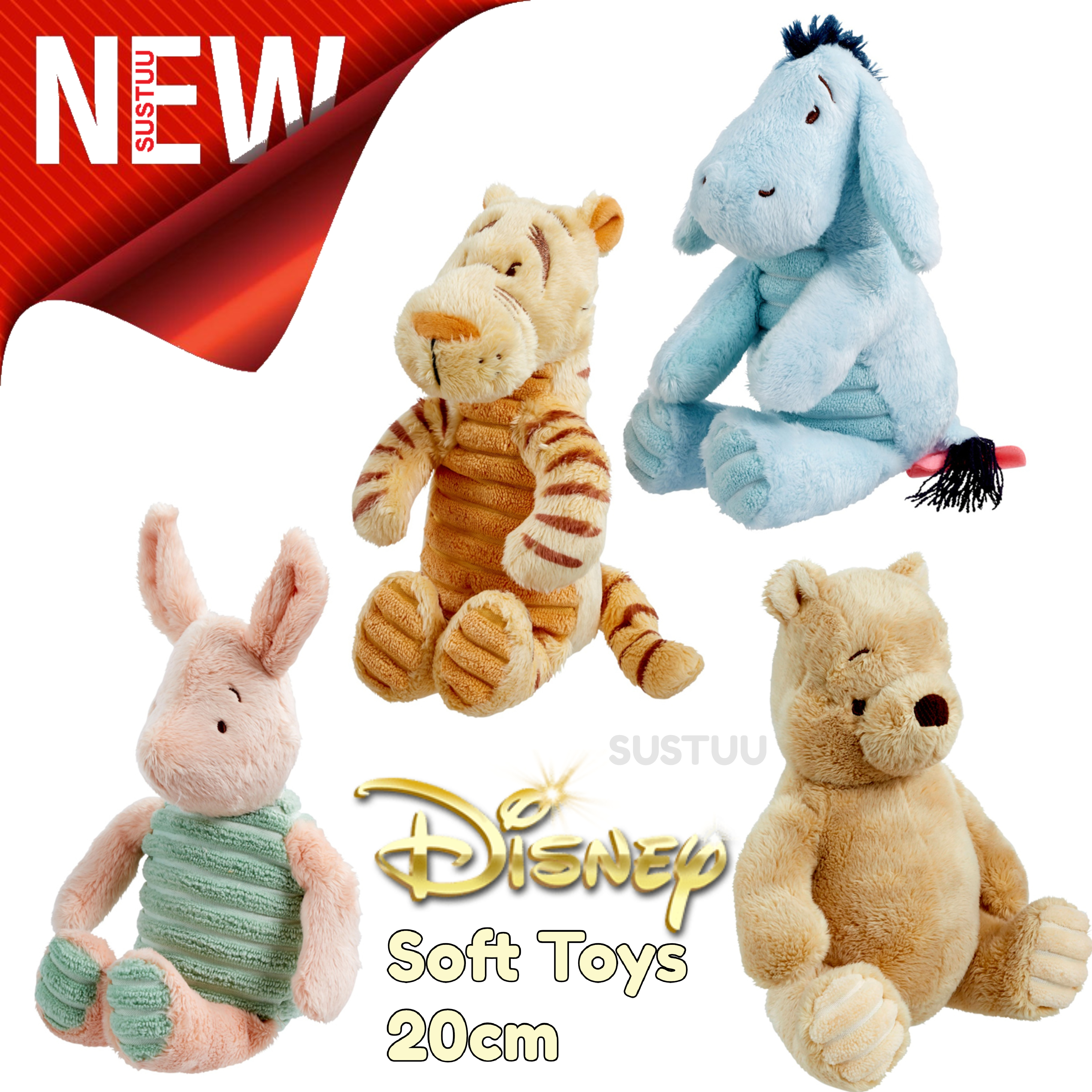 Disney Soft Baby Toys Winnie The Pooh Tigger Eeyore Piglet