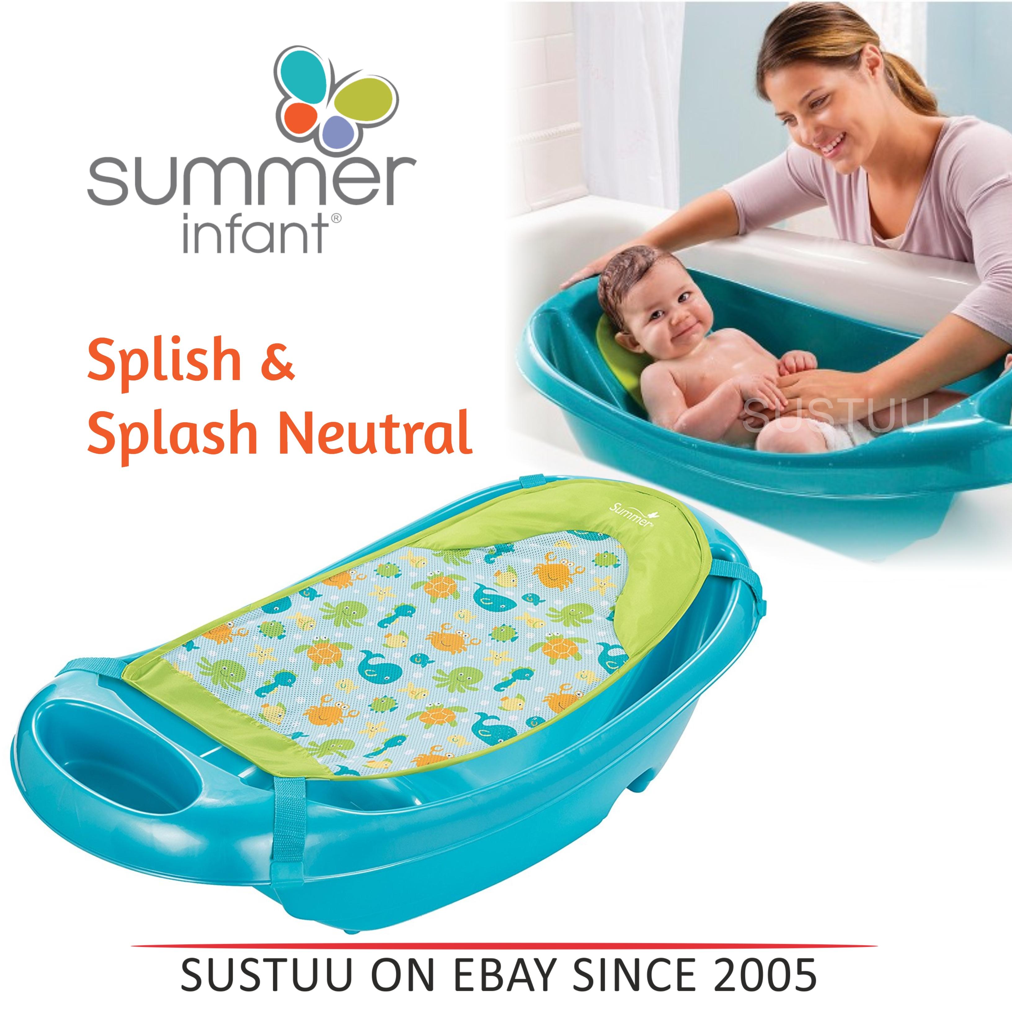Summer Infant Splish & Splash│Newborn kid\'s Bath Play Headrest Seat ...