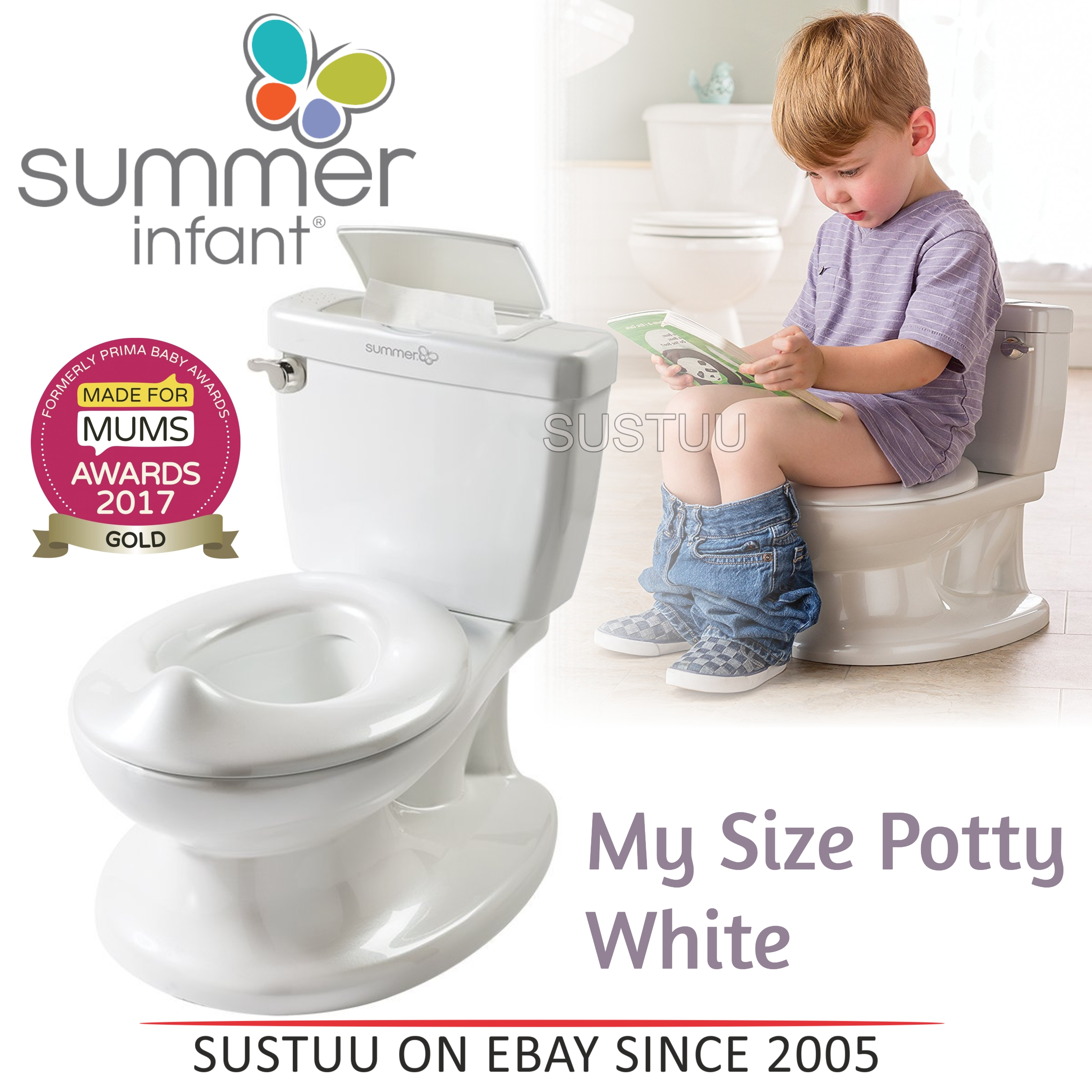 11916dc87d0 Details about Summer Infant My Size Potty│Baby Kid s Toilet Trainer Seat│Flip  Up Chair│White│
