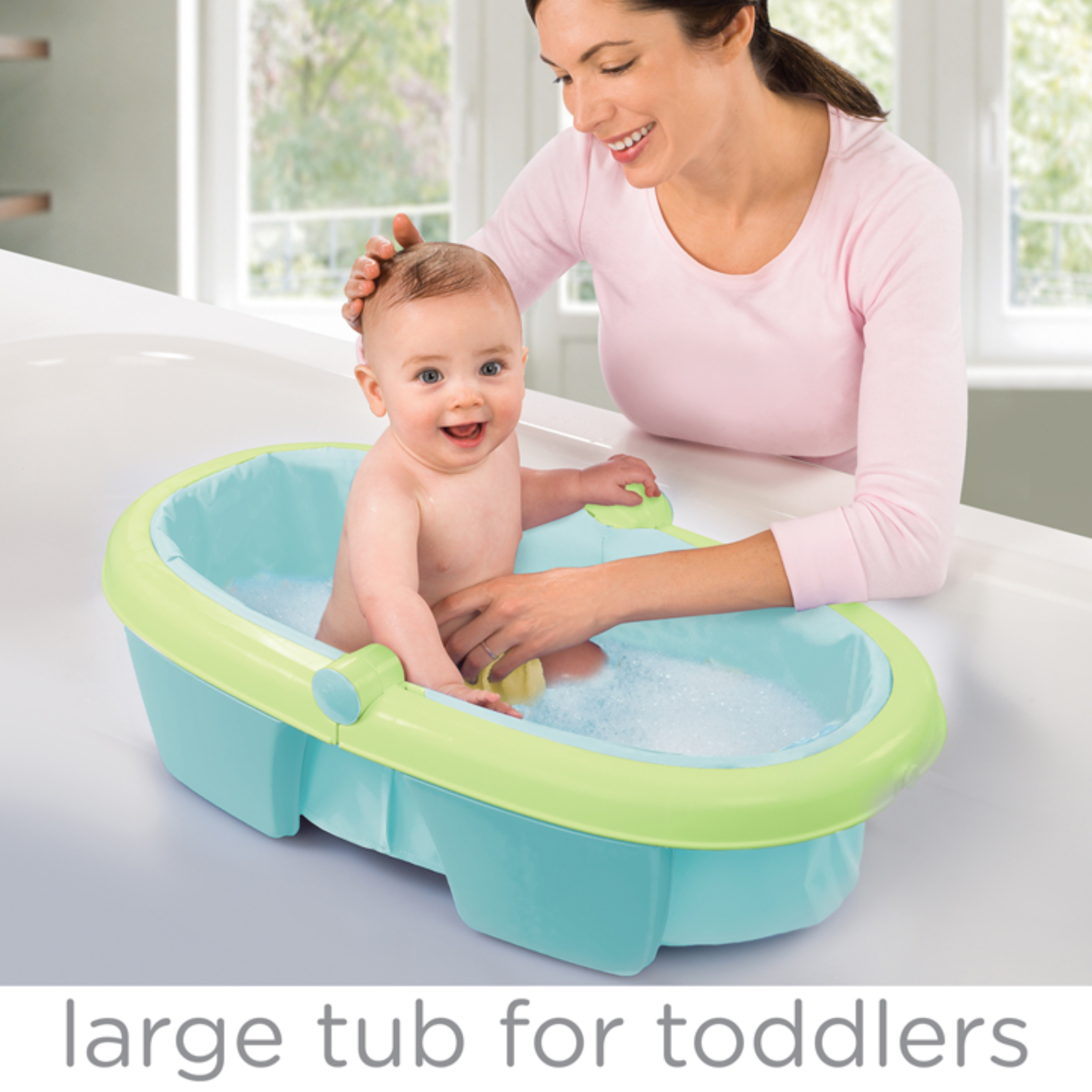Summer Infant Newborn-To-Toddler Fold Away Baby Bath Folding Toy Tub ...