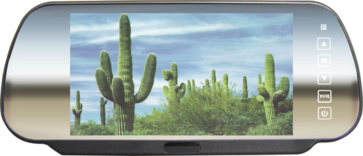 """CKO Car Vehicle 7"""" Mirror Plus Rear View Camera Monitor With Remote Control"""