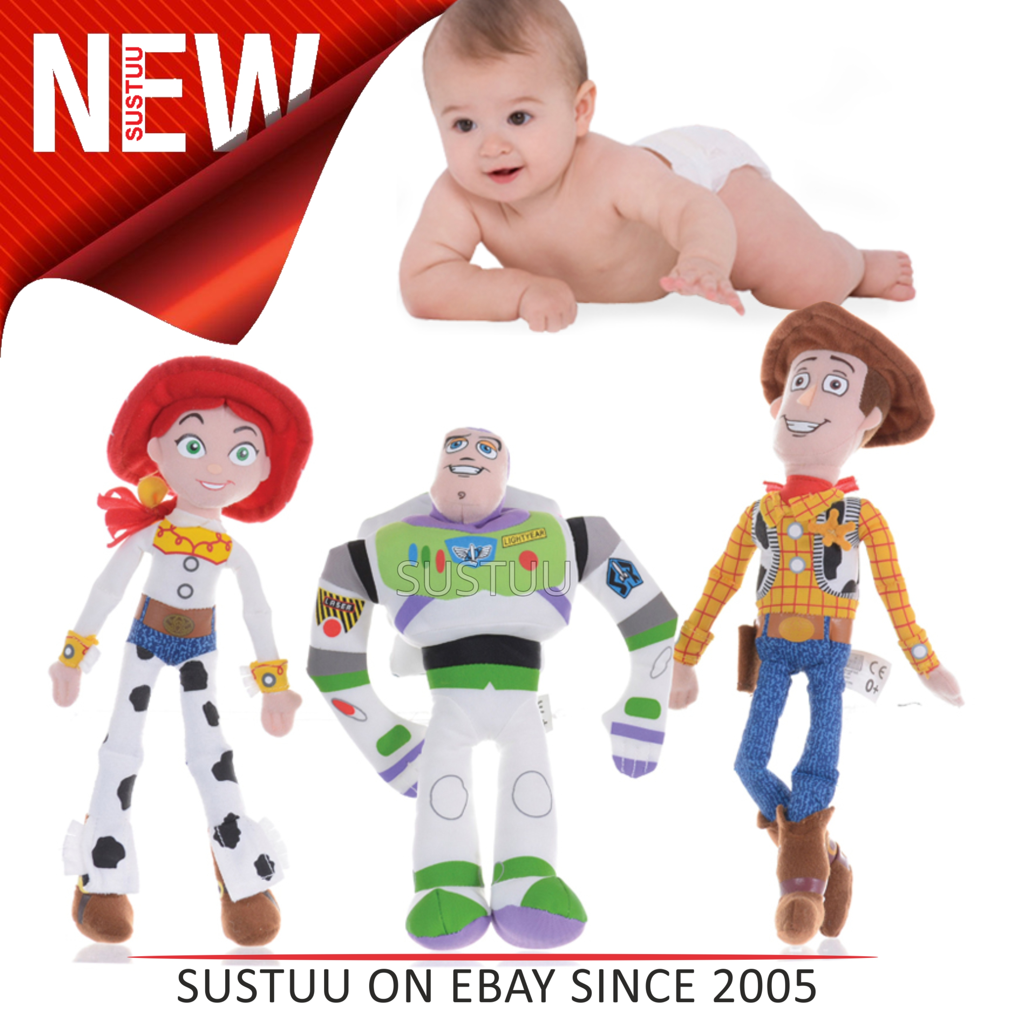 SENTINELLE Toy Story 3 caractère Assortment│Baby   Kid s doux en peluche  Fun   Playtime ff0f6d8dc59