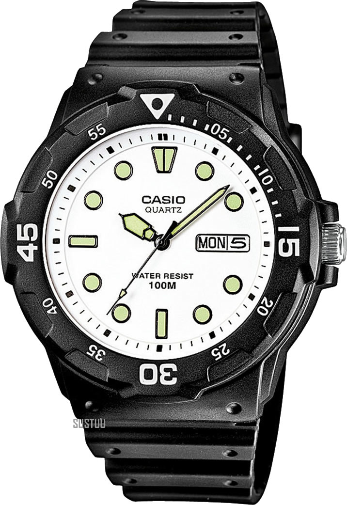 Casio Gents Analogue Day Date Mrw 200h 7evef 100m Water