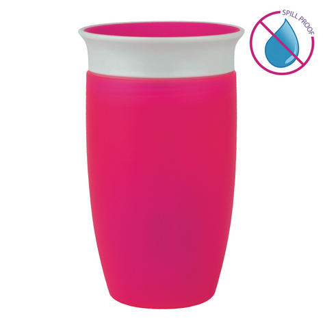 Munchkin Baby Miracle Non-Spill 360°Leak/Seal Proof Toddler Sippy Cup 296ml?Pink Thumbnail 2