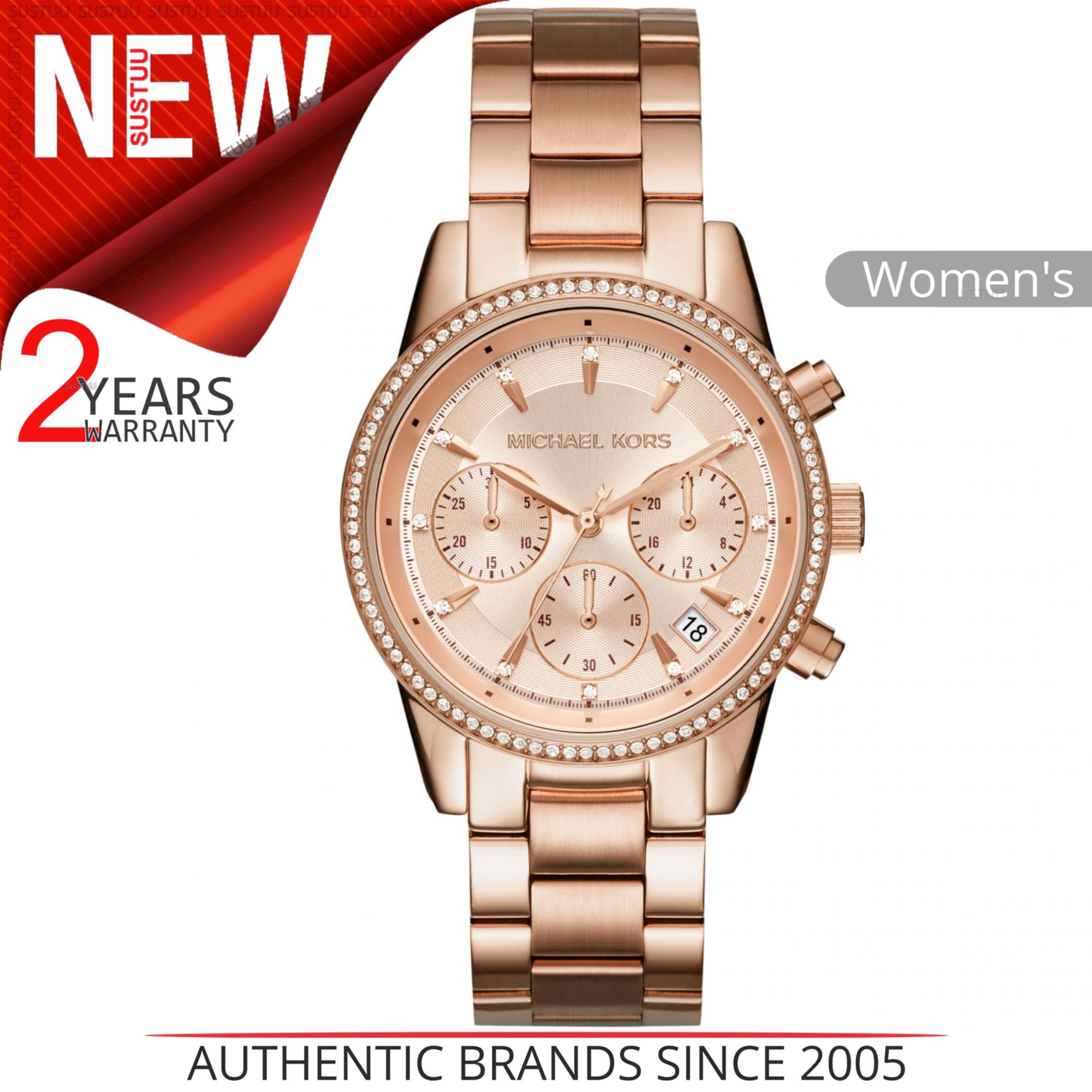 66a65309582 Details about Michael Kors Ritz Women Watch MK6357│Crystal Index Dial│Rose  Gold Bracelet Band