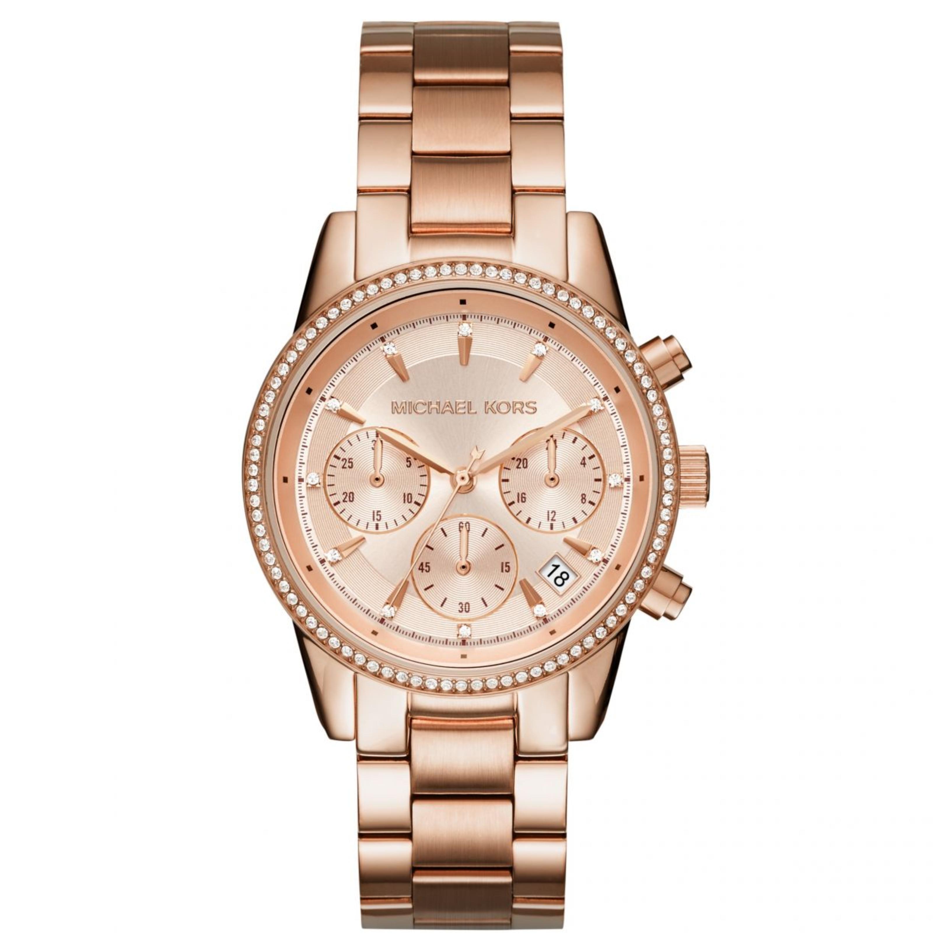 2edf64c36c1eb Sentinel Michael Kors Ritz Women Watch MK6357│Crystal Index Dial│Rose Gold  Bracelet Band