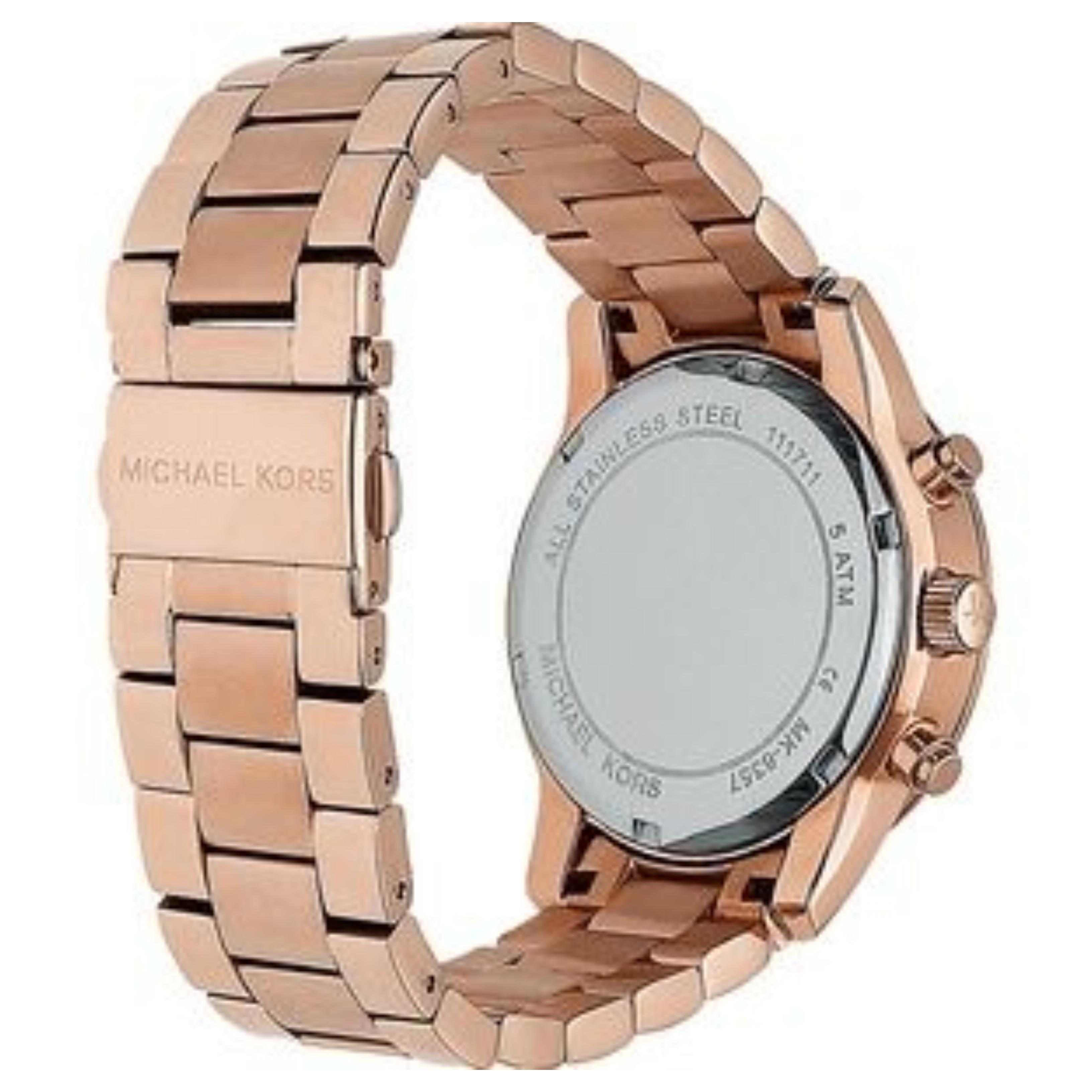 a11631c93d79 Sentinel Michael Kors Ritz Women Watch MK6357│Crystal Index Dial│Rose Gold  Bracelet Band