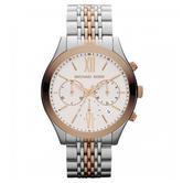 Michael Kors Brookton Two Tone White Dial Bracelet Chrono Ladies' Watch MK5763