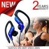 JVC HAEB75A Unisex Sport Adjustable EarClip Handsfree | Anti Sweat | Gym Running | Blue
