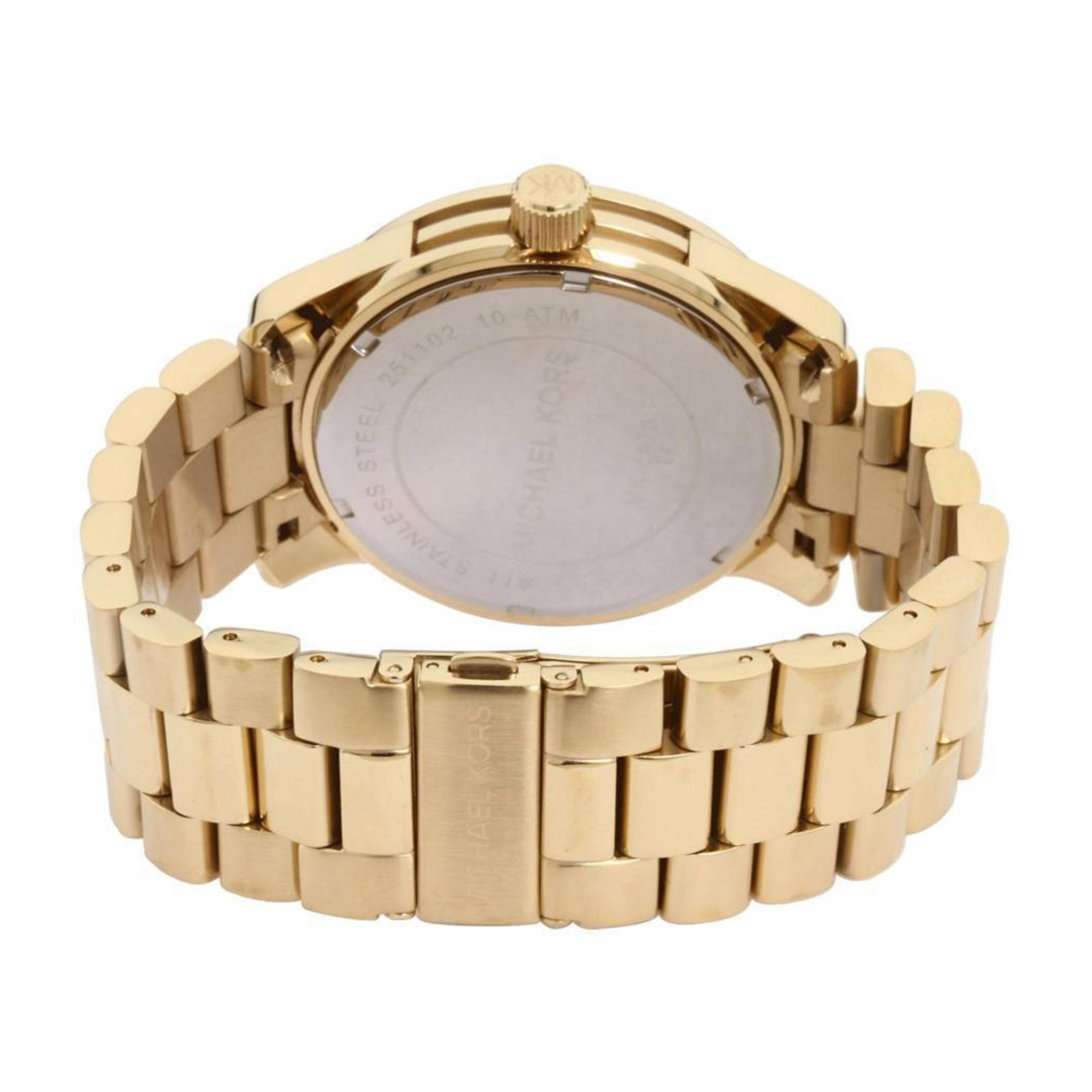 365dc5e28d015 Sentinel Michael Kors Runway Quartz Gold-tone Bracelet MK Logo Dial Ladies  Watch MK5473