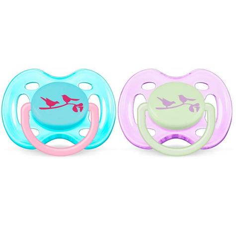 Avent Dynamic Orthodontic Pacifier Dummy Fashion Silicone  Baby Soother Pink Thumbnail 2