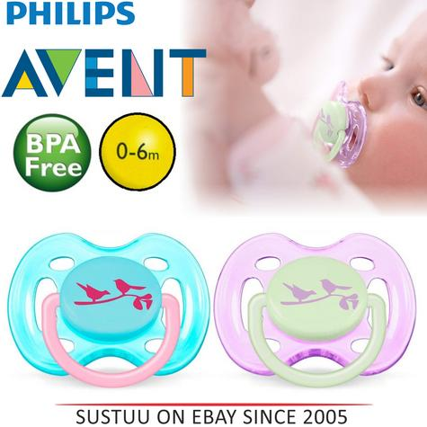 Avent Dynamic Orthodontic Pacifier Dummy Fashion Silicone  Baby Soother Pink Thumbnail 1