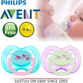 Avent Dynamic Orthodontic Pacifier Dummy Fashion Silicone  Baby Soother Pink