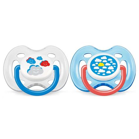 Avent Dynamic Orthodontic Baby Soother Pacifier Dummy Fashion Silicone Teat Thumbnail 2