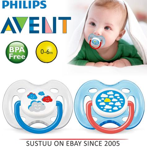 Avent Dynamic Orthodontic Baby Soother Pacifier Dummy Fashion Silicone Teat Thumbnail 1