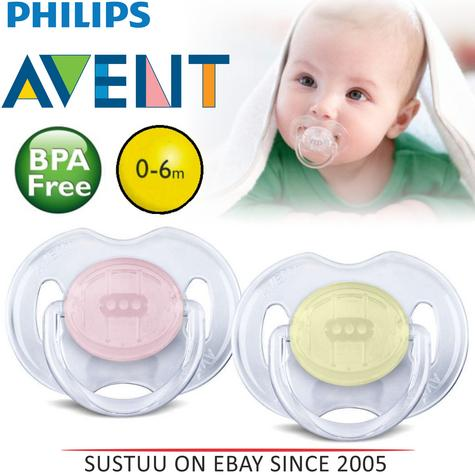Avent Dynamic Orthodontic Pacifier Dummy Translucent Silicone Baby Soother P/Y Thumbnail 1