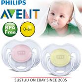 Avent Dynamic Orthodontic Pacifier Dummy Translucent Silicone Baby Soother P/Y