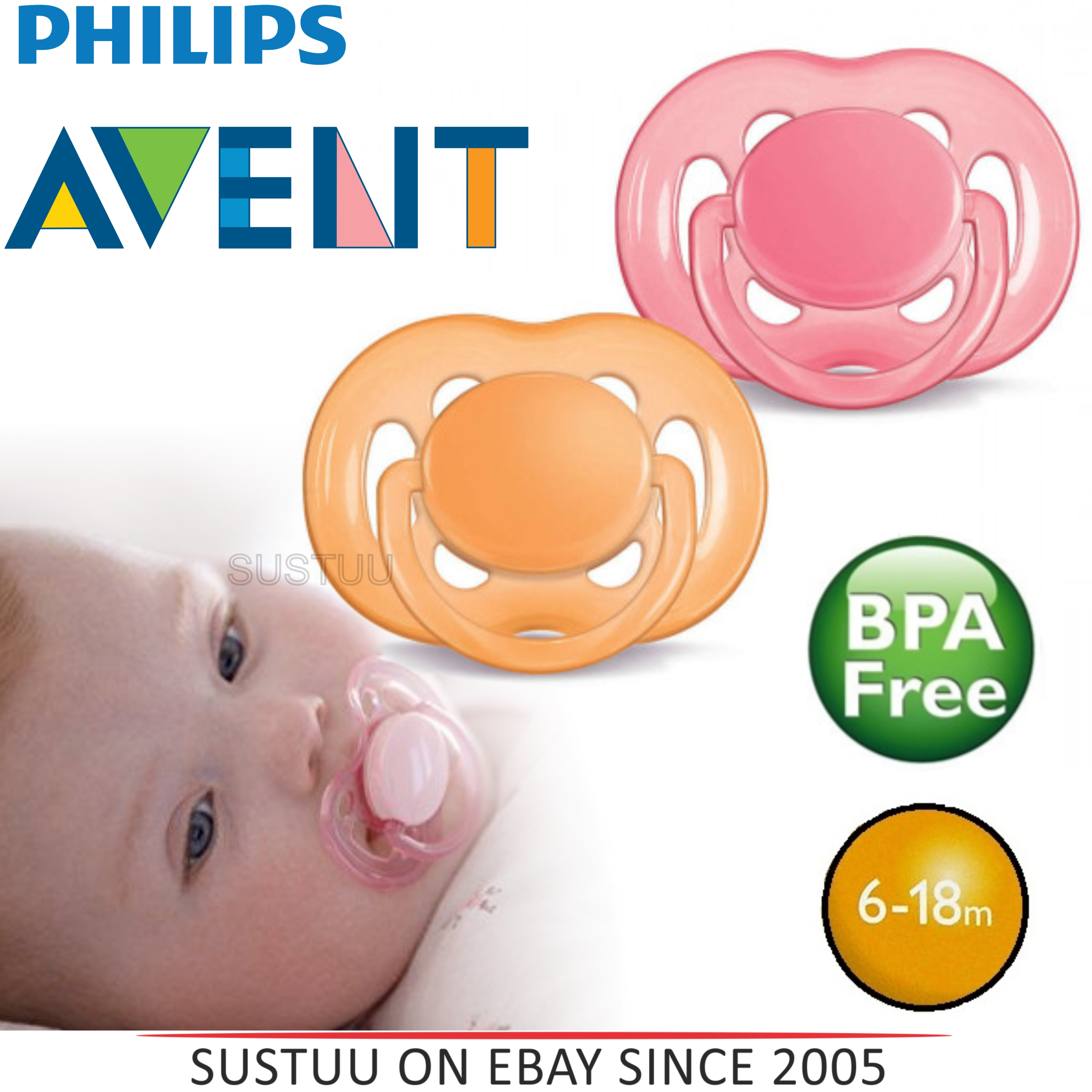Avent Orthodontic Dummy Pacifier Baby Infant Freeflow Silicone Teat Soother O/P