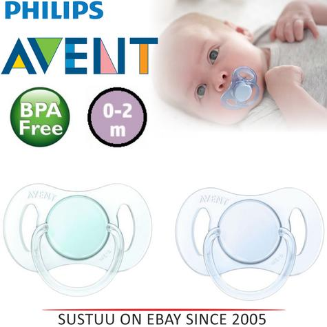 Philips Avent Baby Mini Orthodontic Dummy Pacifier Silicone Teat Soother G/B Thumbnail 1