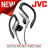 JVC HAEB75S Sport Adjustable EarClip Earphone?Gym-Jogging-Running?1.2m Cord?Silv