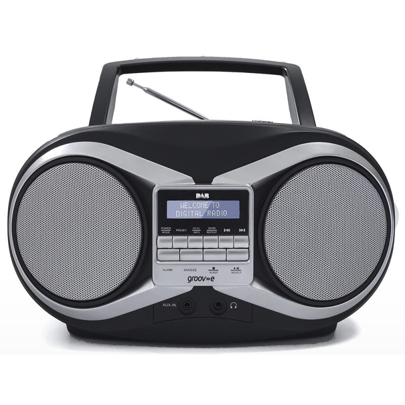 groov e tragbar boombox tragbarer cd spieler dab ukw. Black Bedroom Furniture Sets. Home Design Ideas