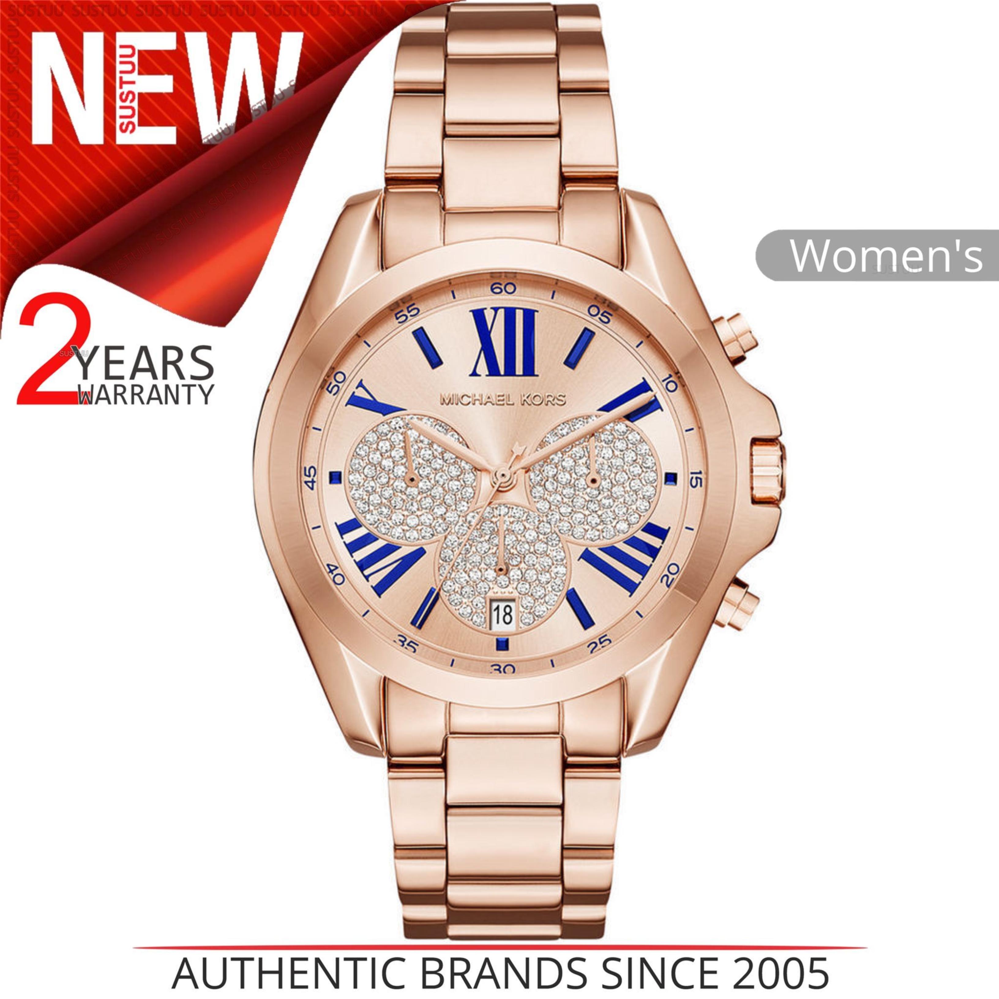 Details About Michael Kors Bradshaw Chronograph Rose Gold Tone Las Bracelet Watch Mk6321