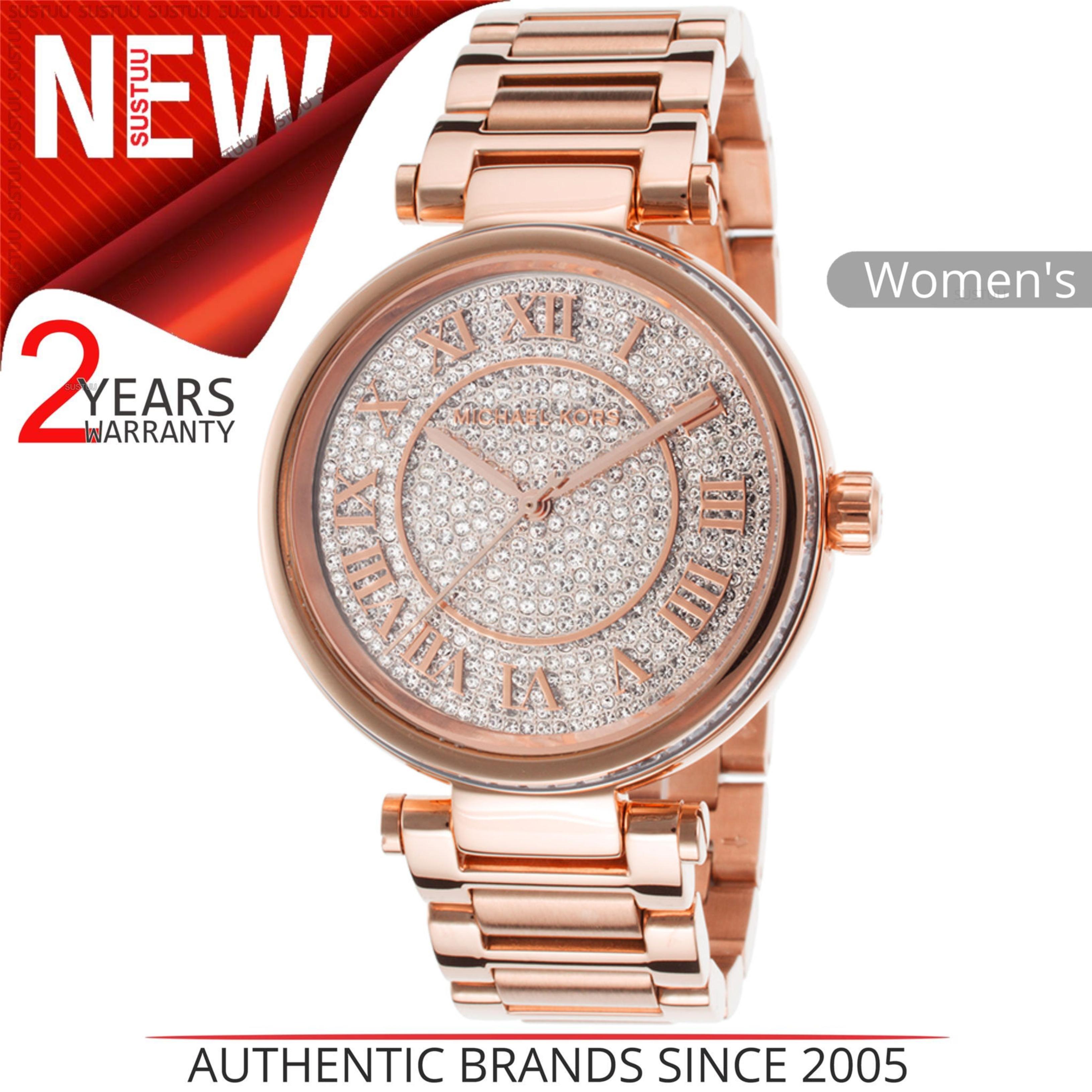 8a627680f031 Sentinel Michael Kors Skylar Crystal Pave Dial Rose Gold Tone Women  Bracelet Watch Mk5868