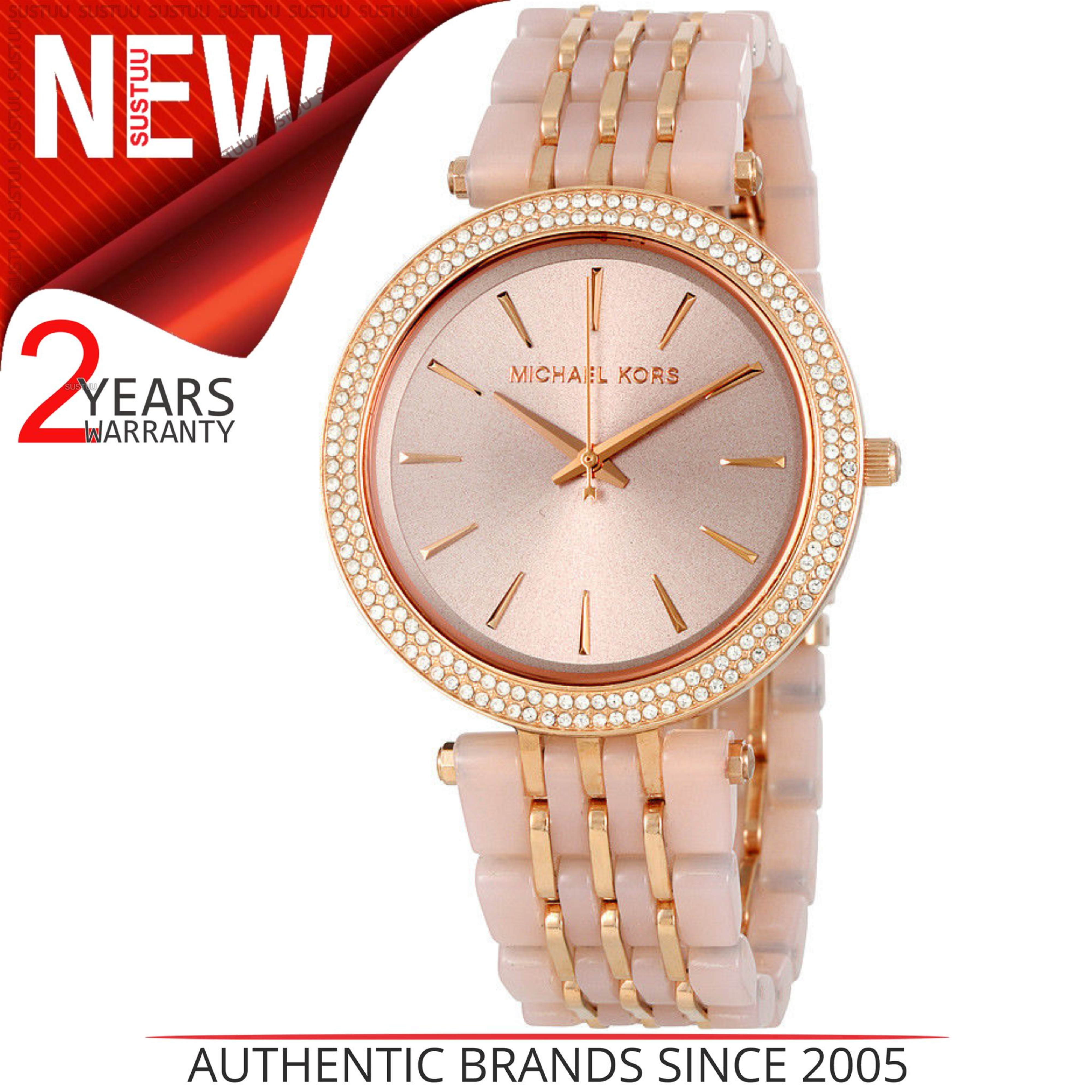 7711ec8c3c09 CENTINELA MK4327 de reloj de pulsera Michael Kors Darci Blush acetato oro  rosa esfera de las mujeres