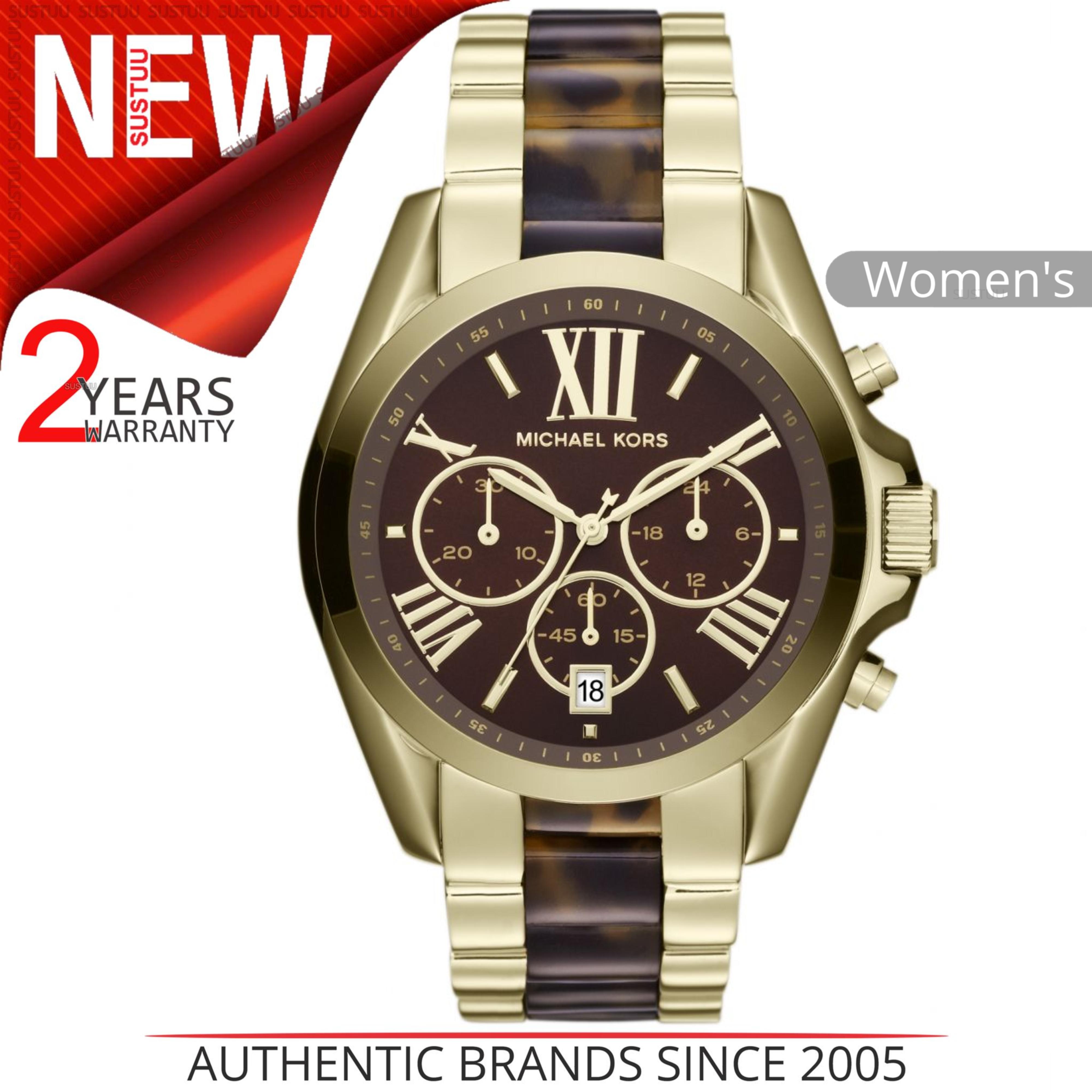ce7160f935c56 Details about Michael Kors Bradshaw Women s Watch│Chrono Dial Tortoise  Shell Bracelet│MK5696│