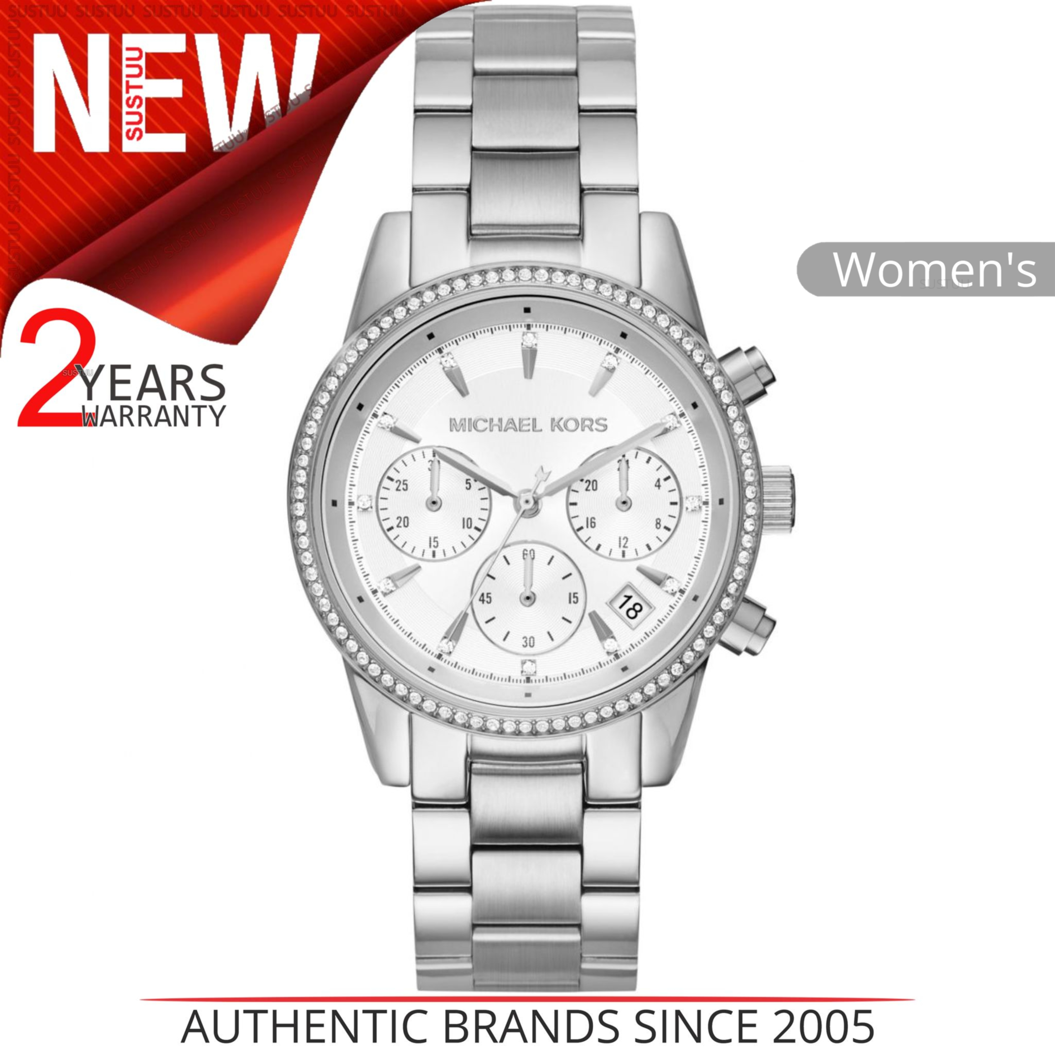 7daaa2bb9 Details about Michael Kors Ritz Ladies Watch MK6428│Stainless Steel  Chronograph Round Dial