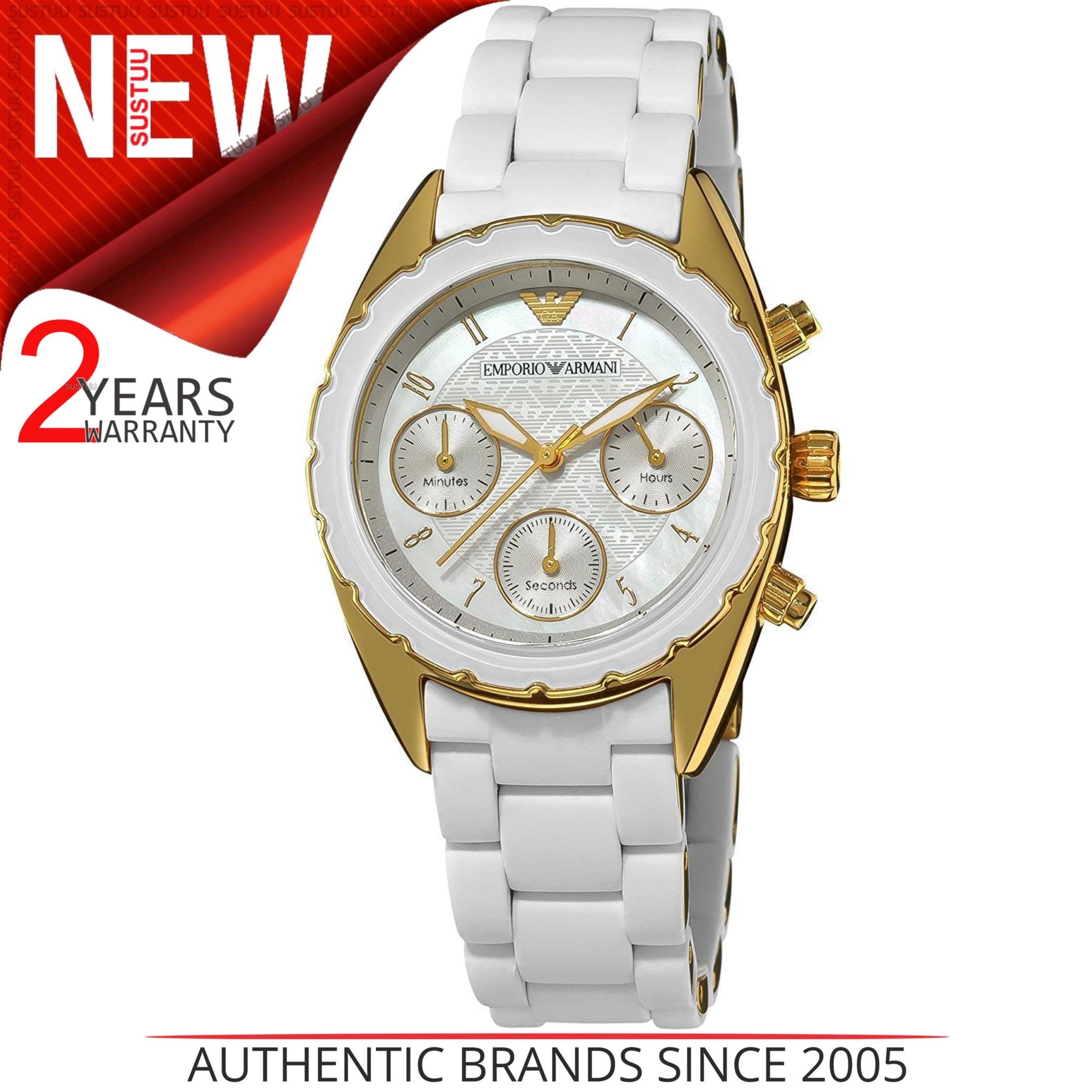 75bb8aace43 CENTINELA Emporio Armani Ladies Watch│Gold tono acero inoxidable  Case│Silicone Strap│AR5945