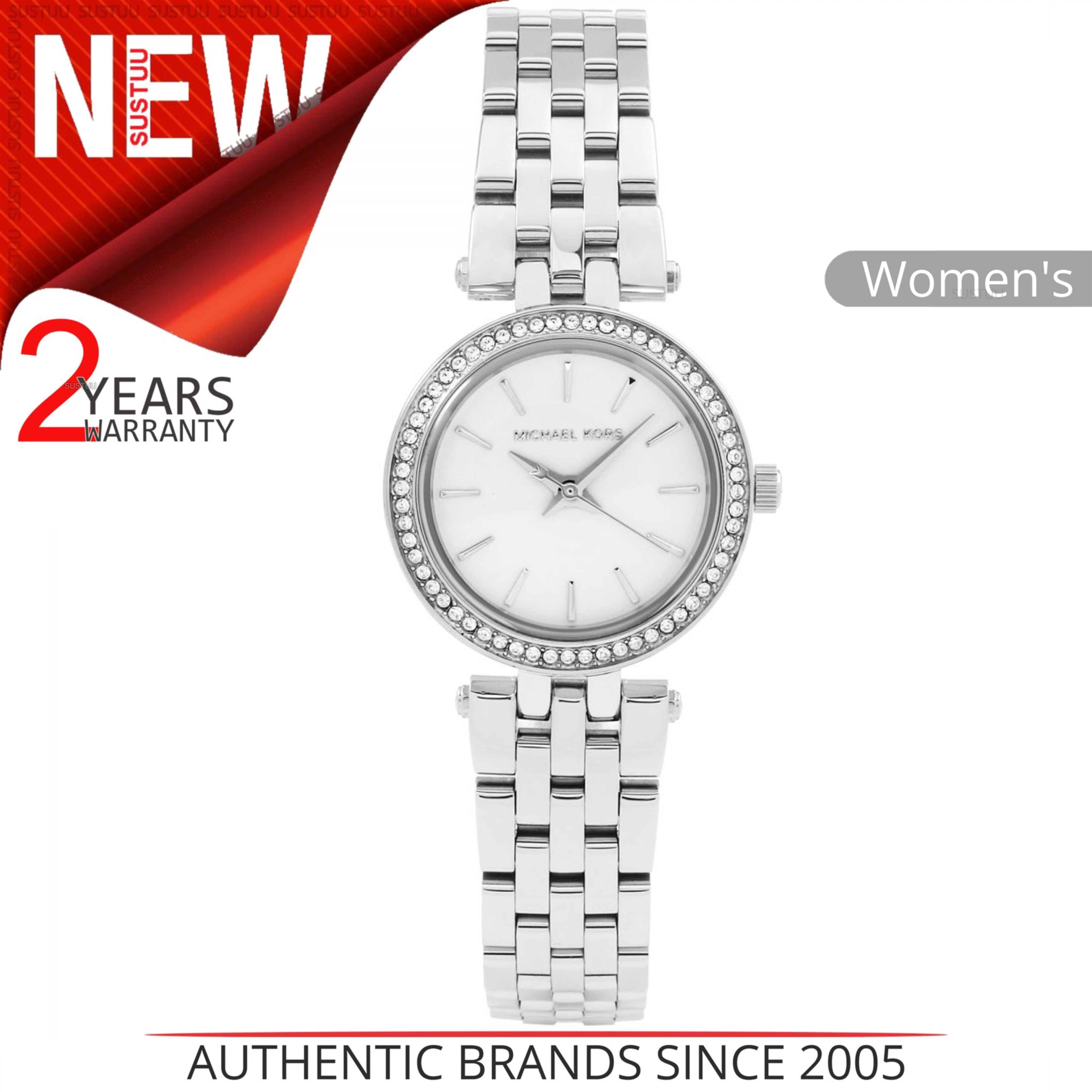 Details about Michael Kors Petite Darci Women s Watch│Round Dial│Silver  Bracelet Band│MK3294 3e1223f296