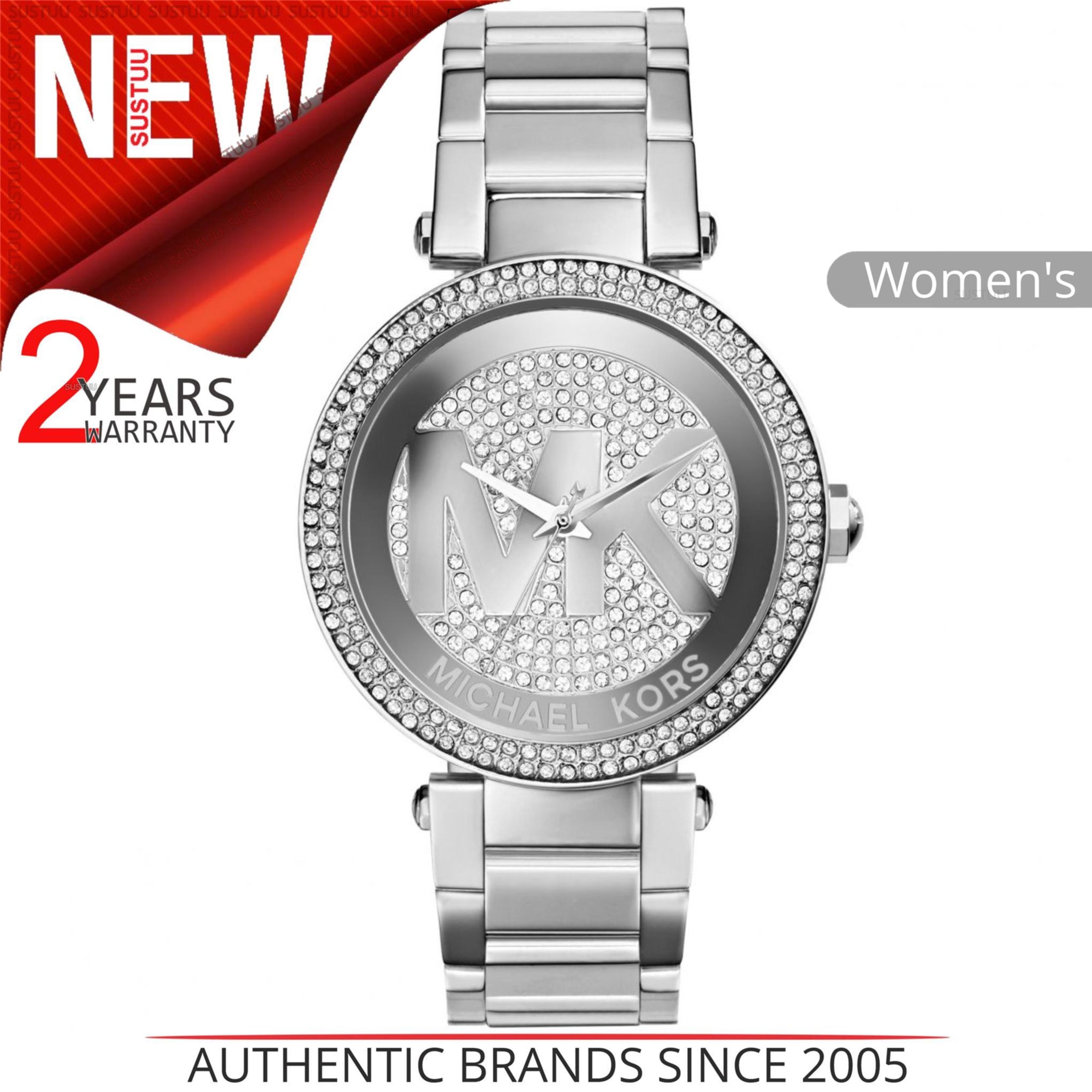 8f1d34d11751 Details about Michael Kors Parker Women Bracelet Watch MK5925│Silver  Crystal Pave MK LogoDial