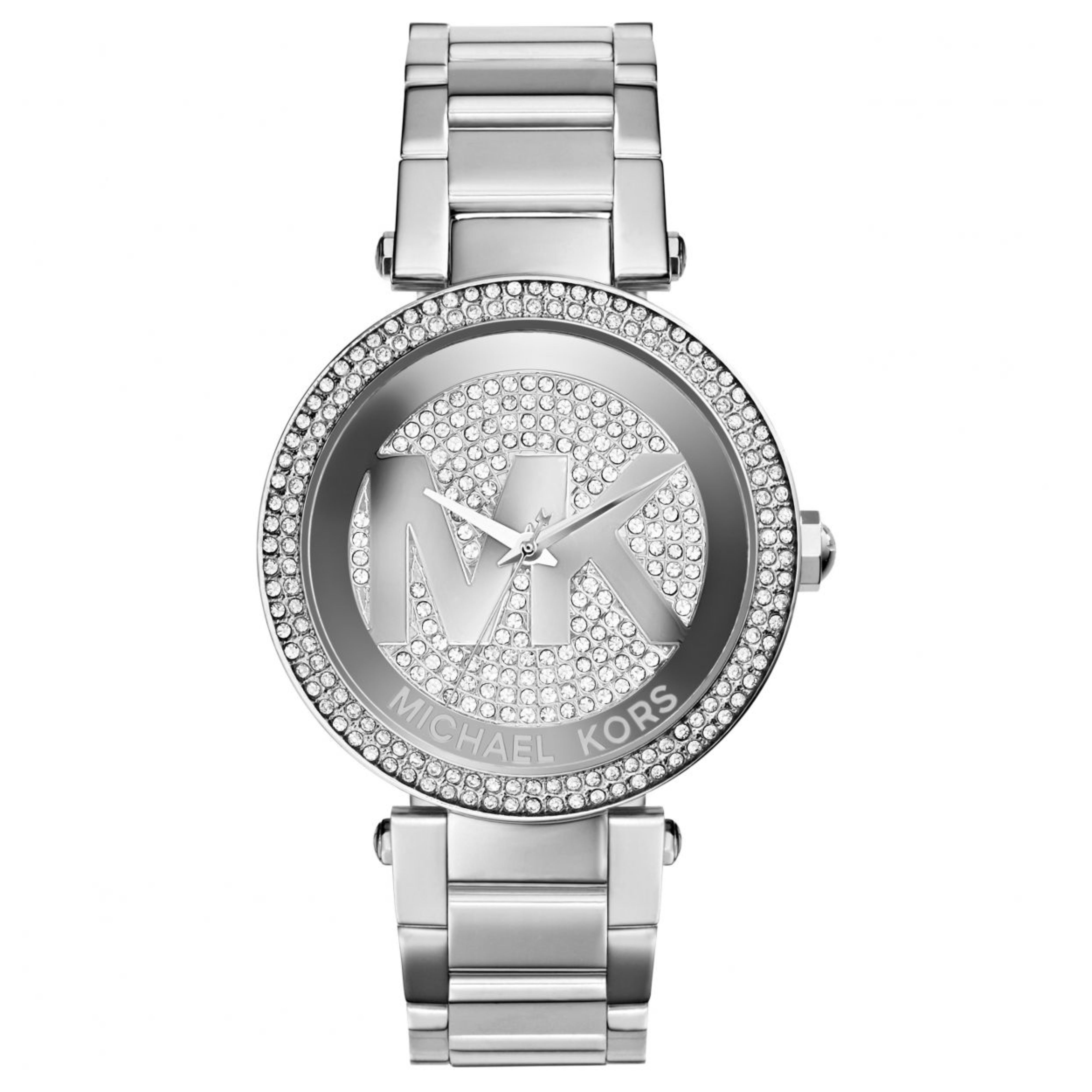 2f198dc00565 Sentinel Michael Kors Parker Women Bracelet Watch MK5925│Silver Crystal Pave  MK LogoDial