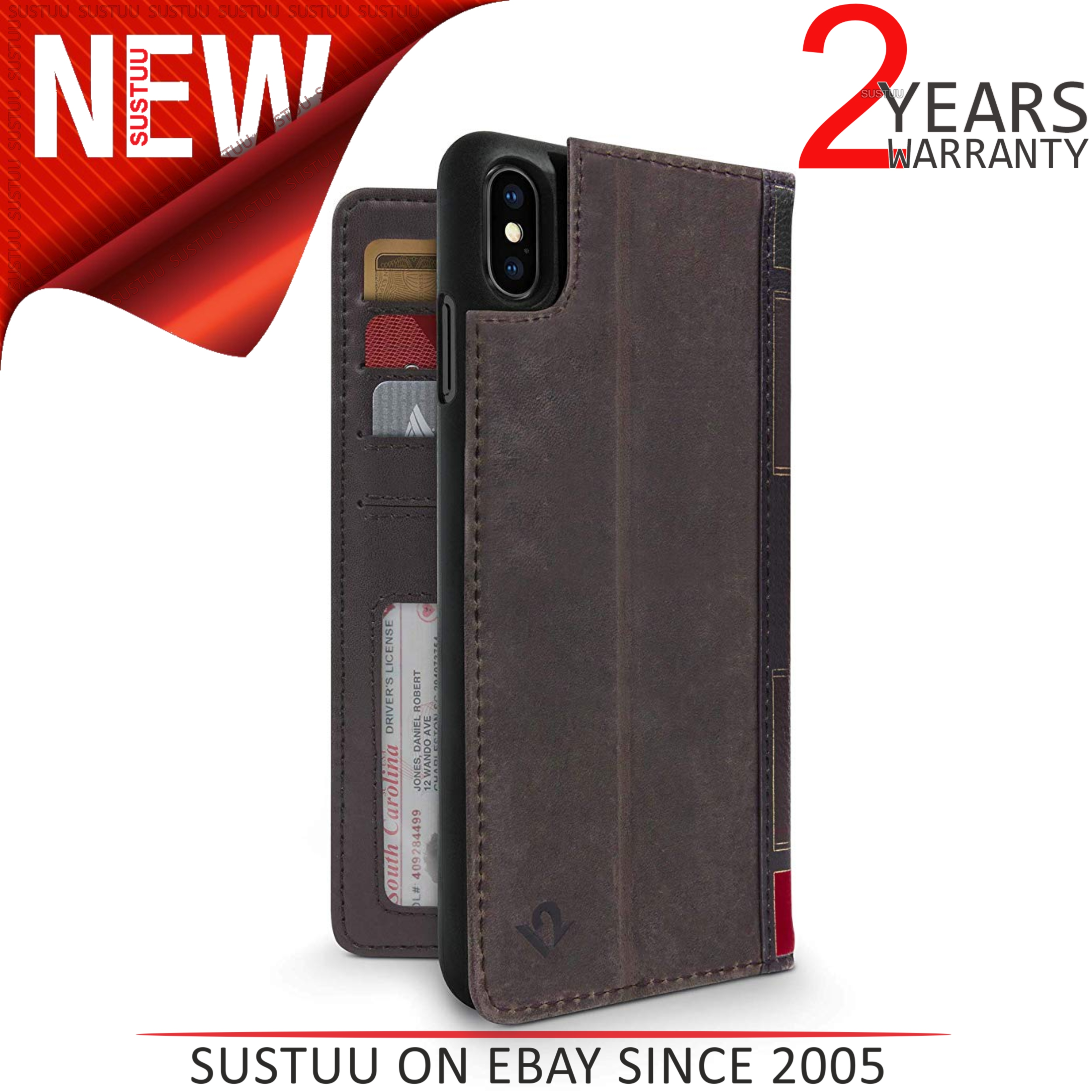 twelve south iphone xs max  Twelve South BookBook for iPhone XS Max│Leather Wallet Case ...