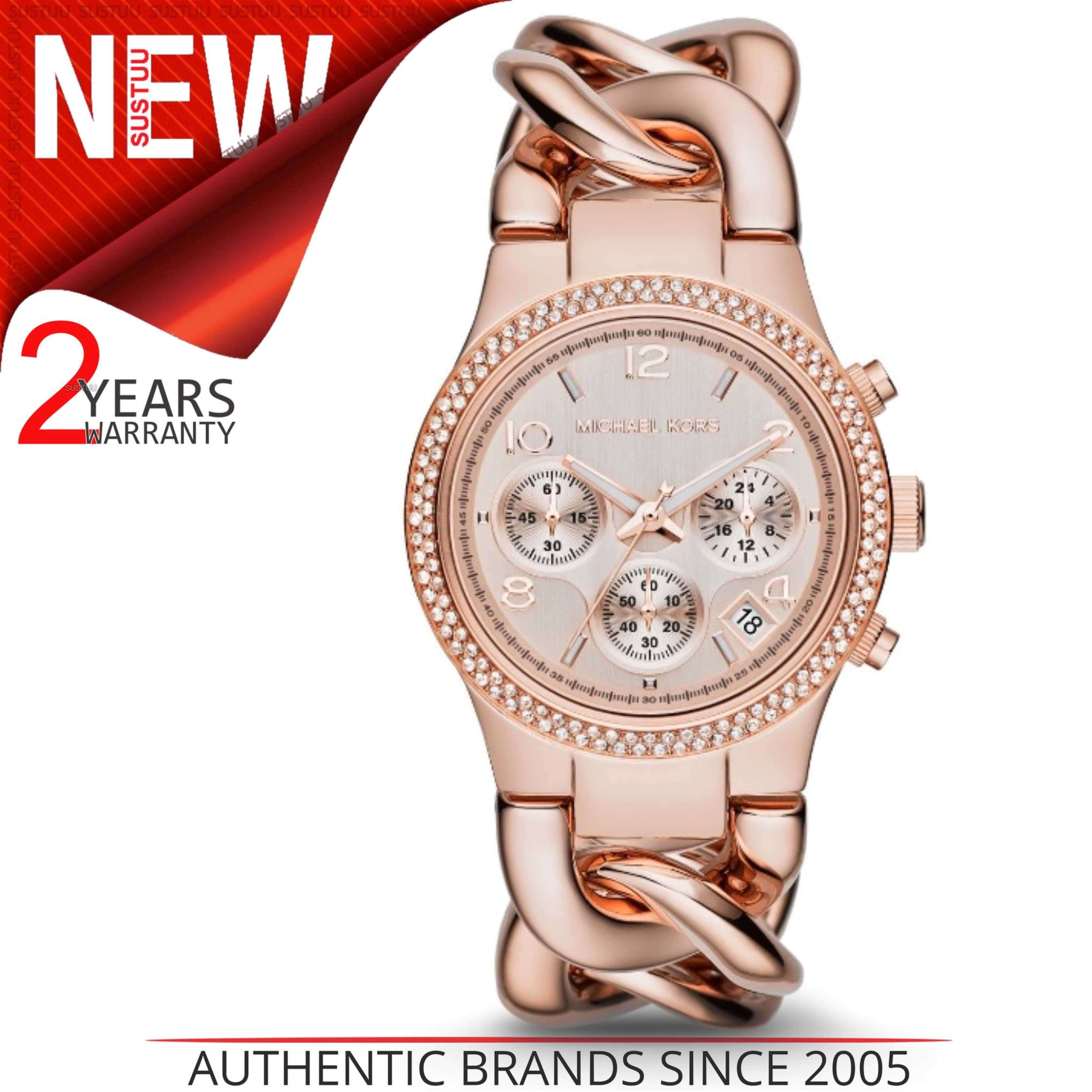92a6eb15e7c4 Details about Michael Kors Runway Ladies Watch MK3247│Rose Gold Dial│Ion  Plated Twist Bracelet