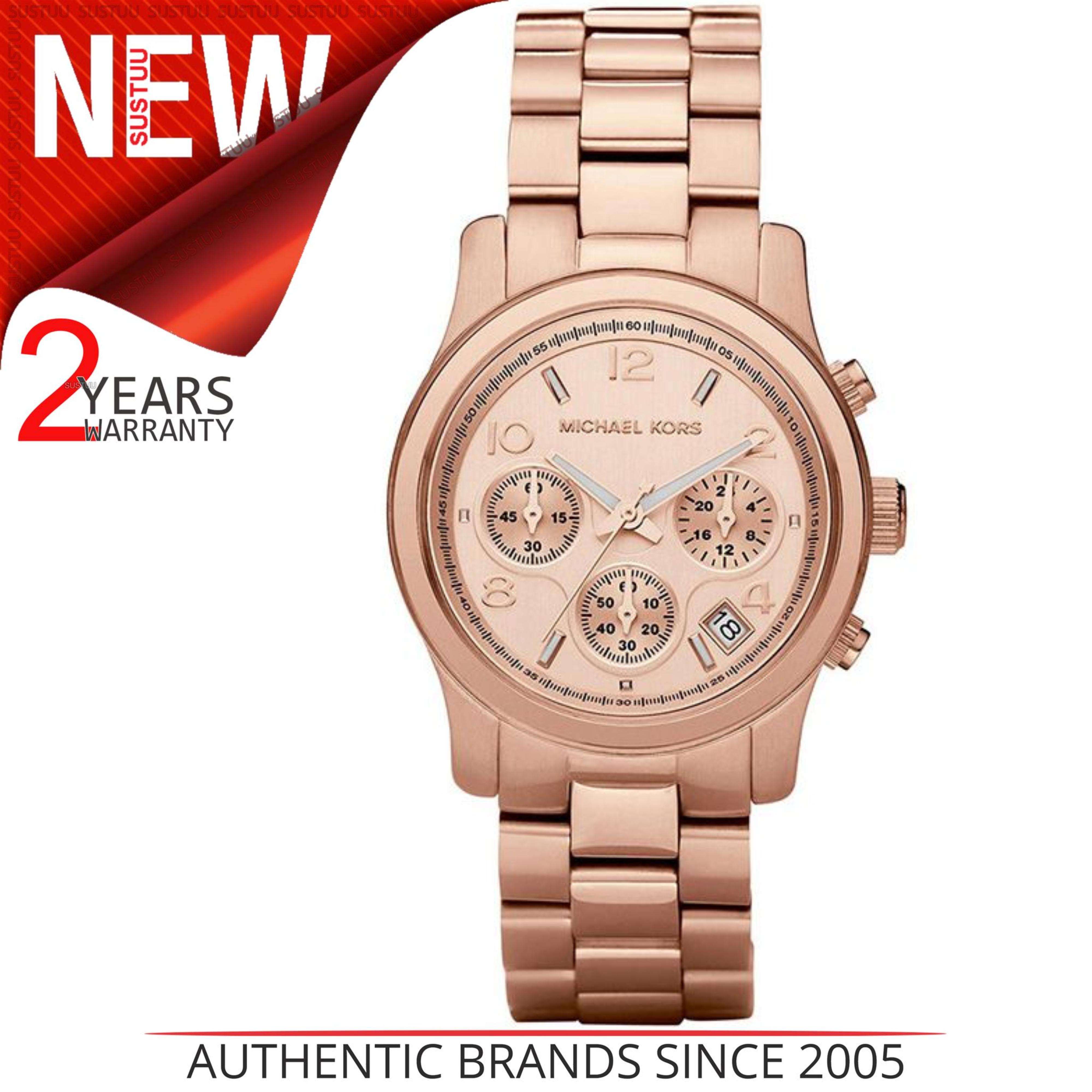5857efd13b4fb Sentinel Michael Kors Runway Women Bracelet Watch MK5128│Chrono Dial│Rose  Gold Tone Case