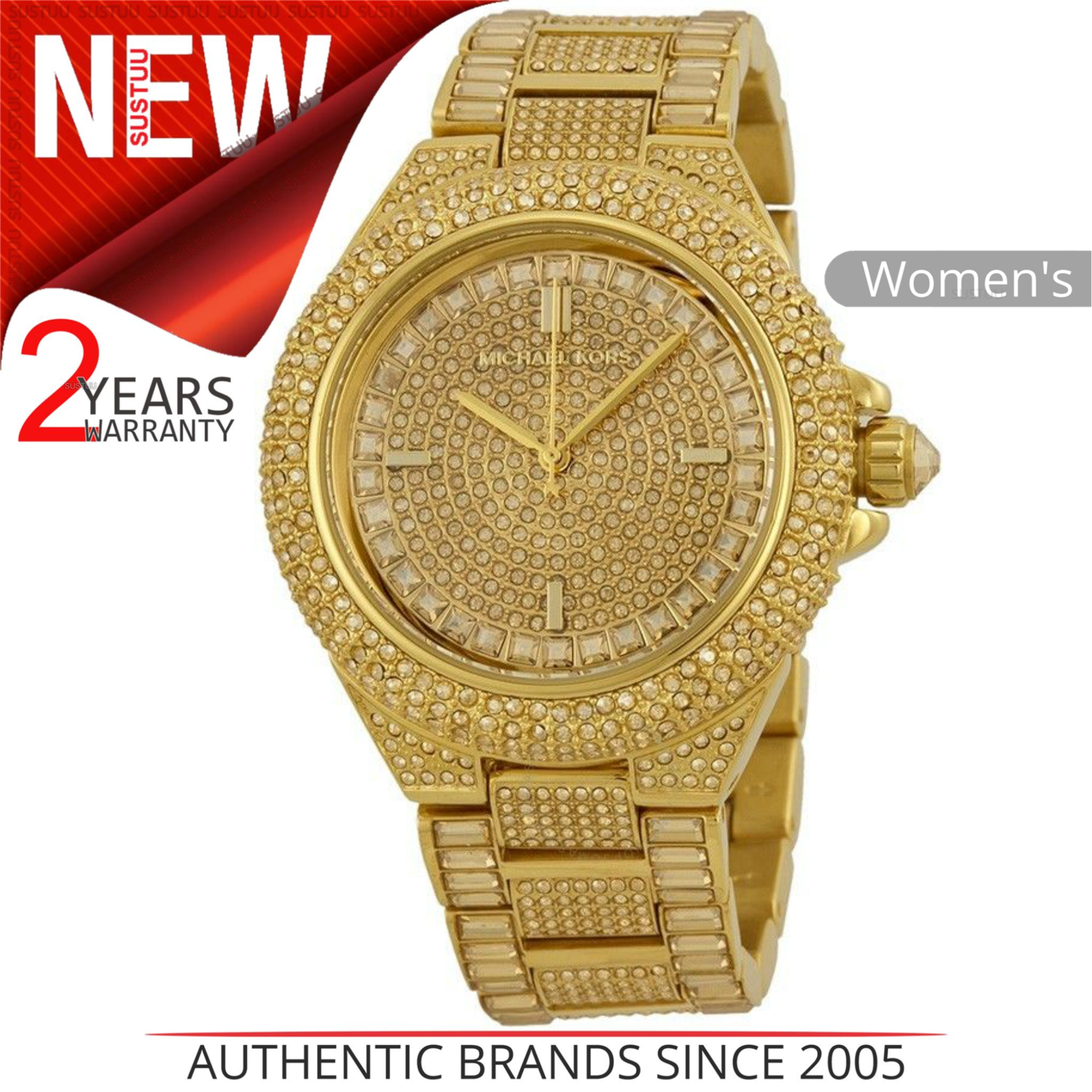 fb9c46059d8c Details about Michael Kors Camille Ladies Watch MK5720│Gold Crystal Pave  Dial│Gold Plated Band