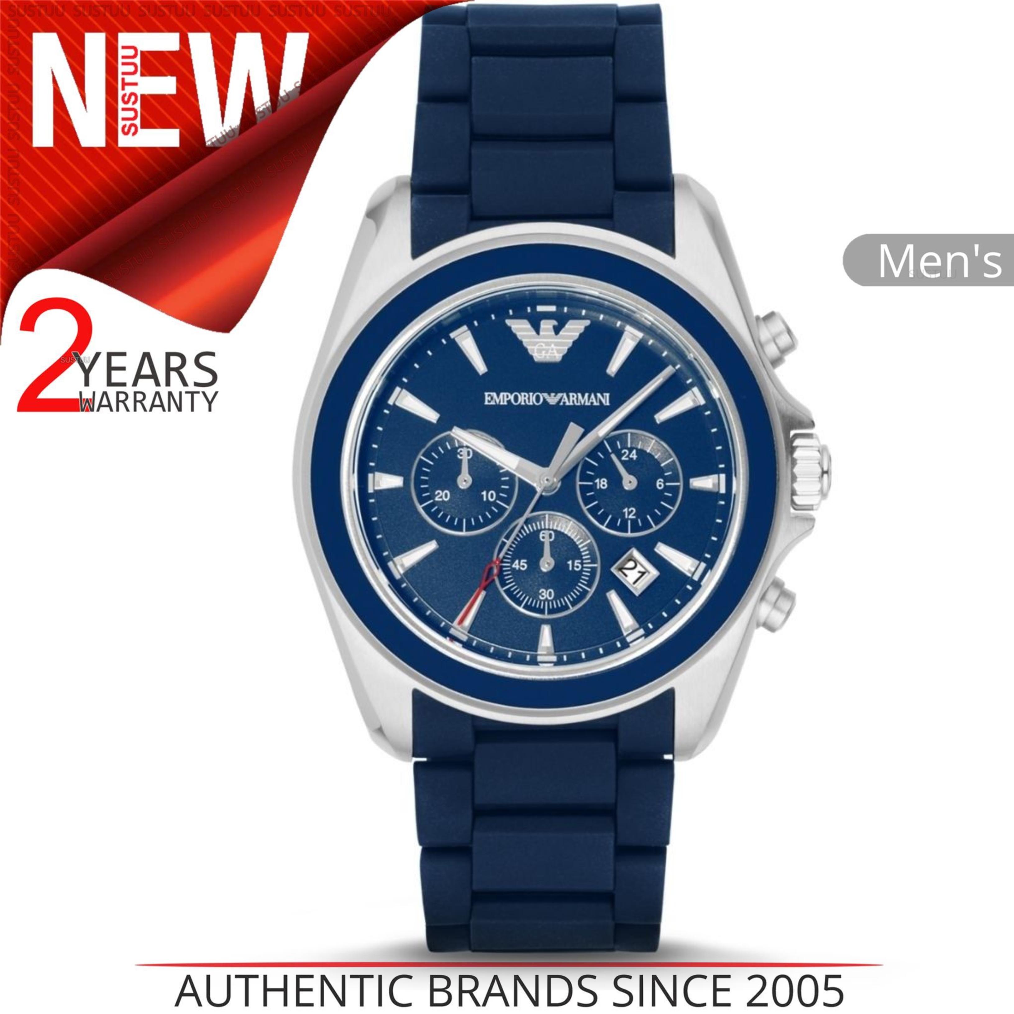 91864e714f5d CENTINELA Reloj Emporio Armani Sportivo para hombre AR6068│ Cronógrafo con  esfera azul ub Correa de caucho