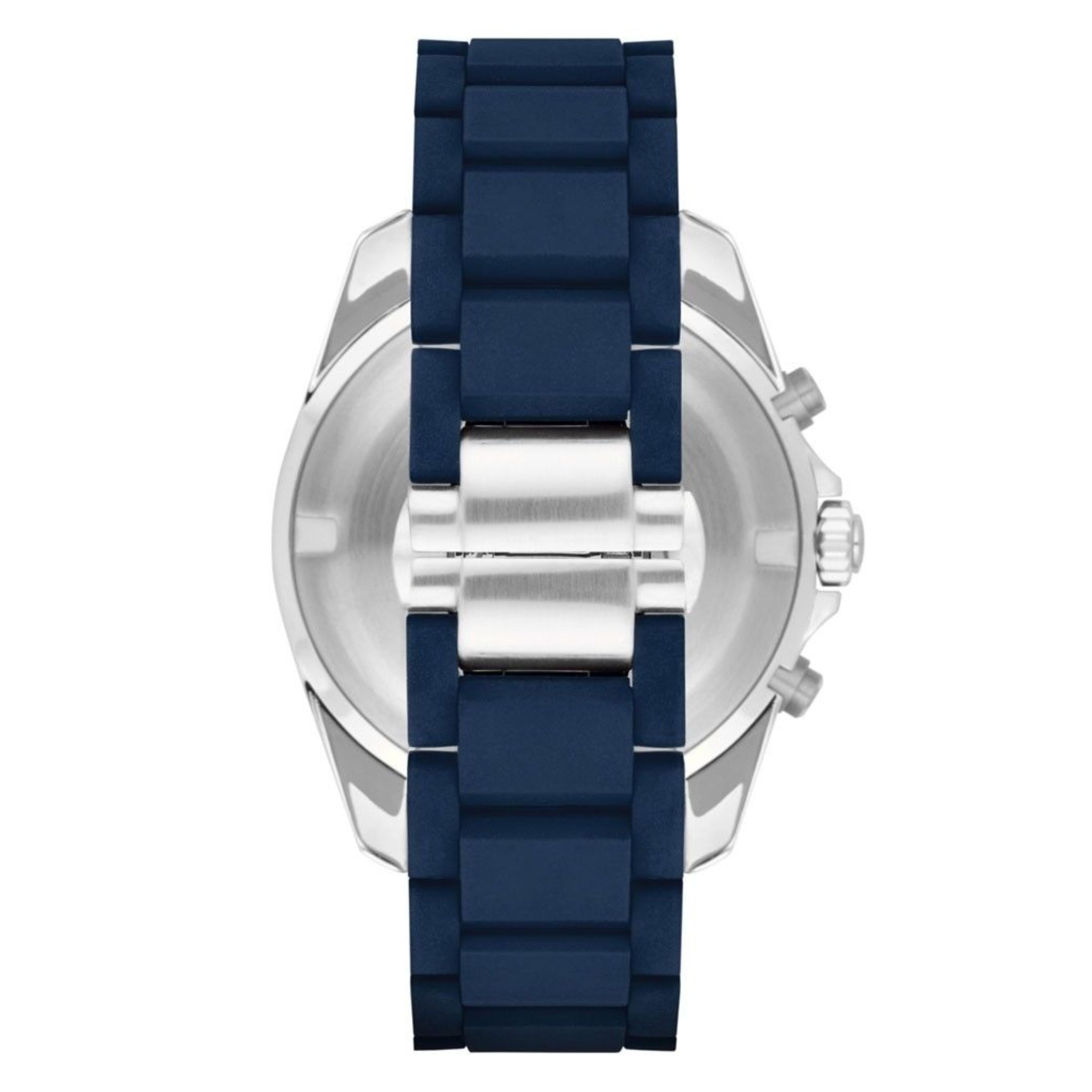 51bb06574b34 CENTINELA Reloj Emporio Armani Sportivo para hombre AR6068│ Cronógrafo con  esfera azul ub Correa de caucho