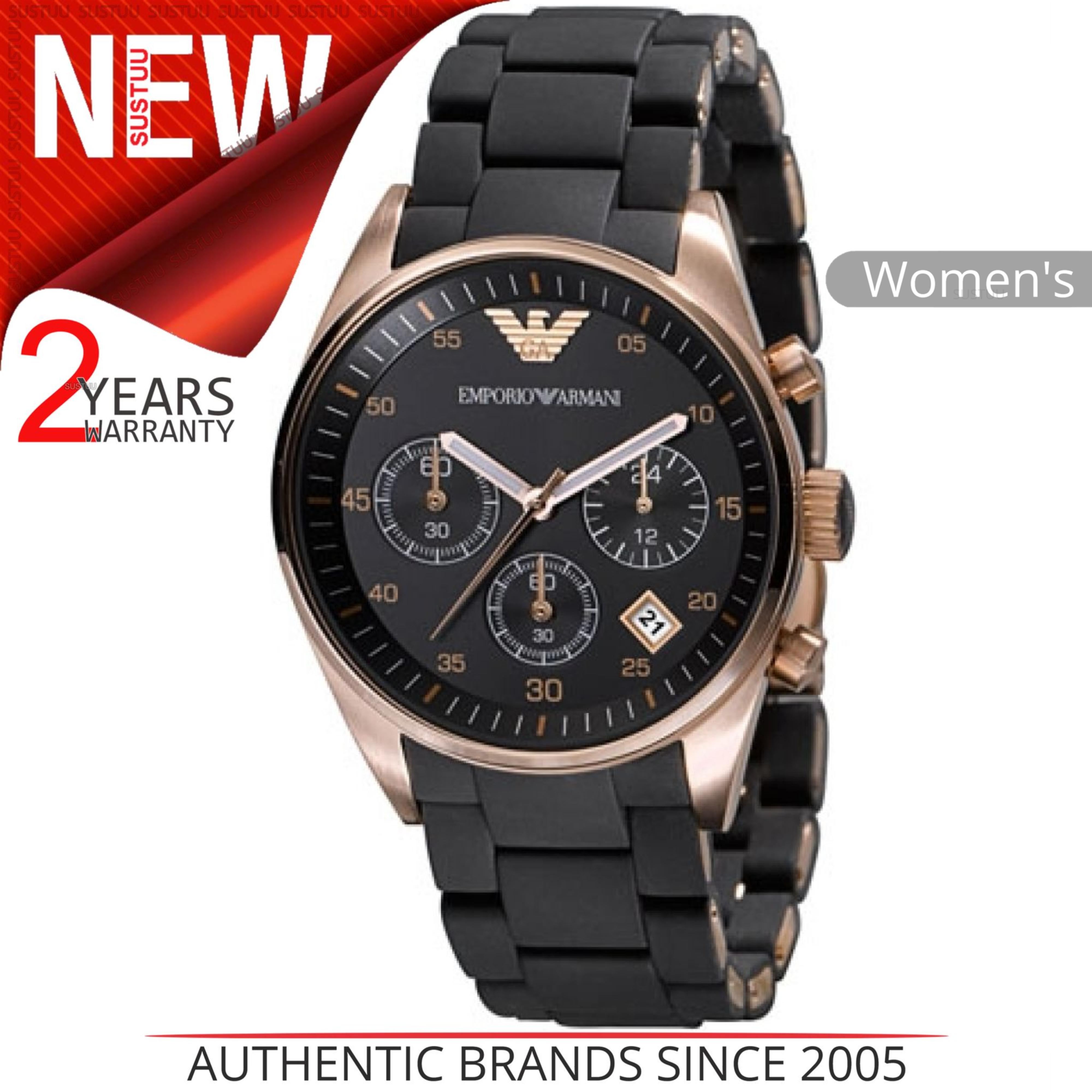 1bd109890b00 Emporio Armani de Mujer Reloj Ar5906 │ Negro Cronómetro Esfera Oro ...