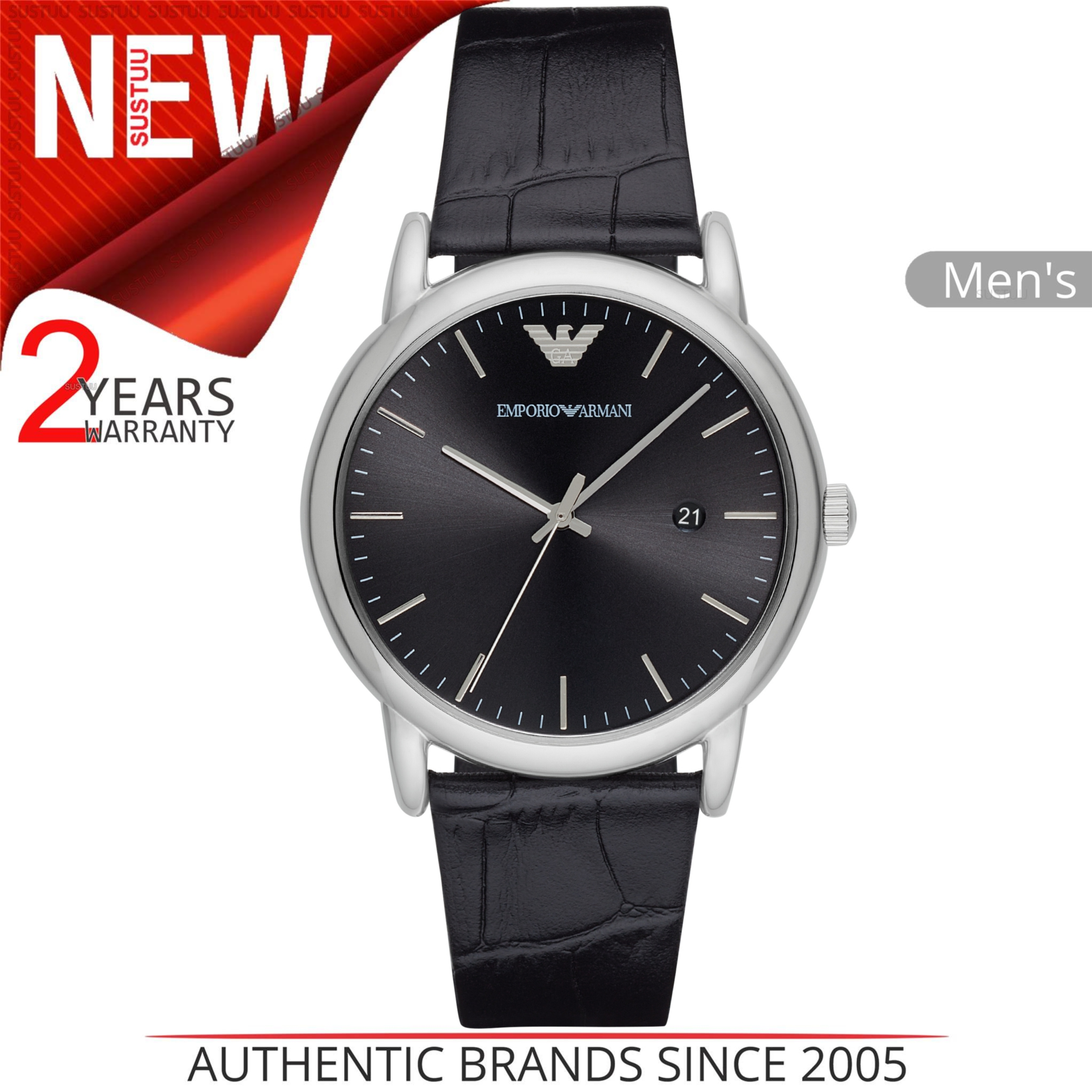 9f5487e5be55 CENTINELA Emporio Armani Luigi - Reloj de vestir para hombre AR2500 Case  Estuche de plata con esfera