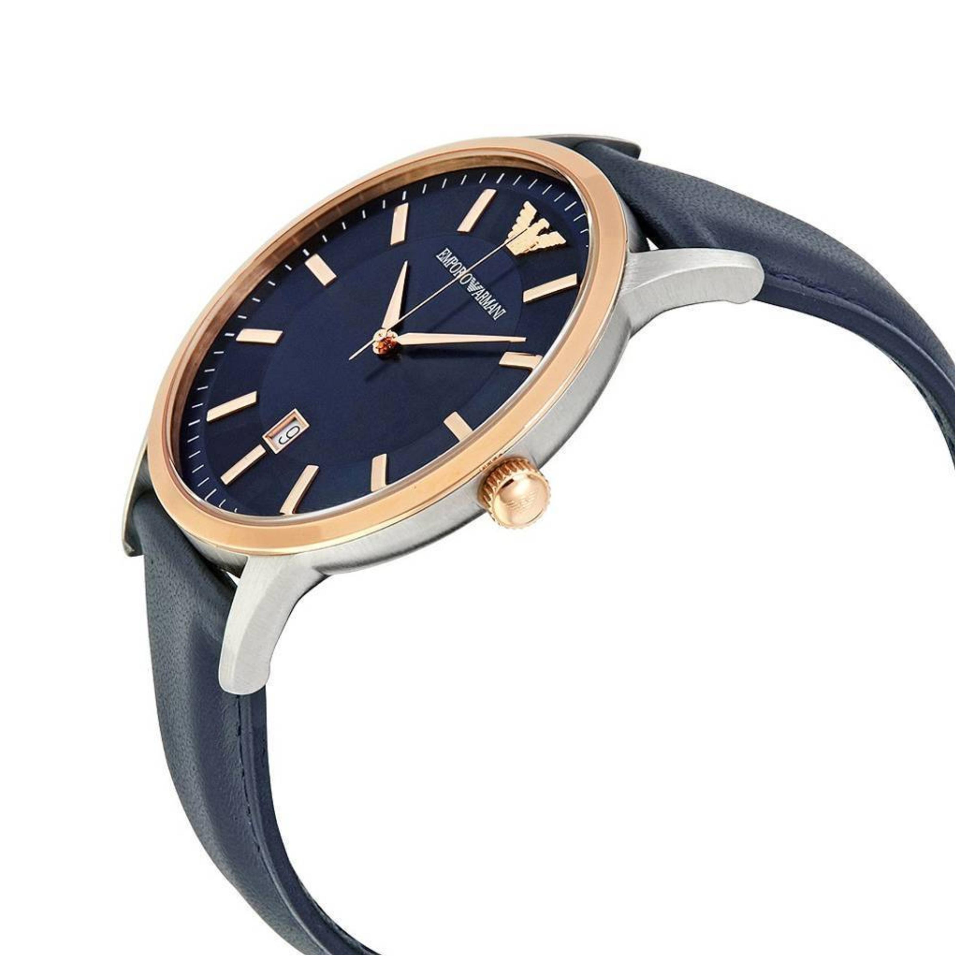 Sentinel Emporio Armani Renato Men s Watch│Navy Blue Sunray Dial│Leather  Strap│AR2506 2f4ef0a132